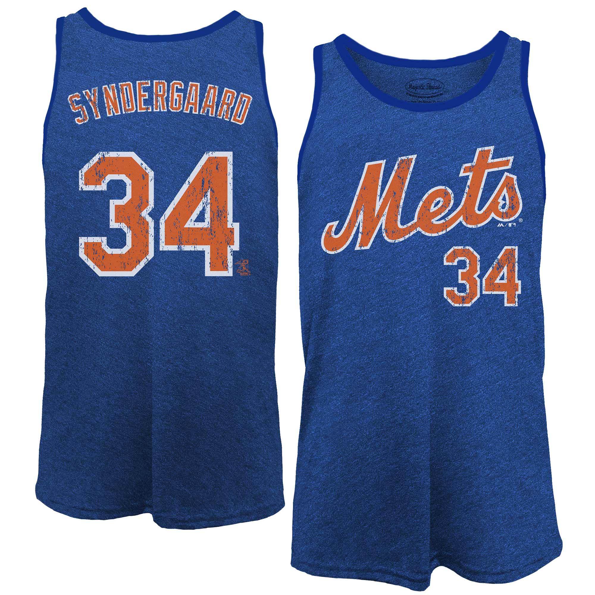 Noah Syndergaard New York Mets Majestic Threads Name & Number Tri-Blend Tank Top - Royal