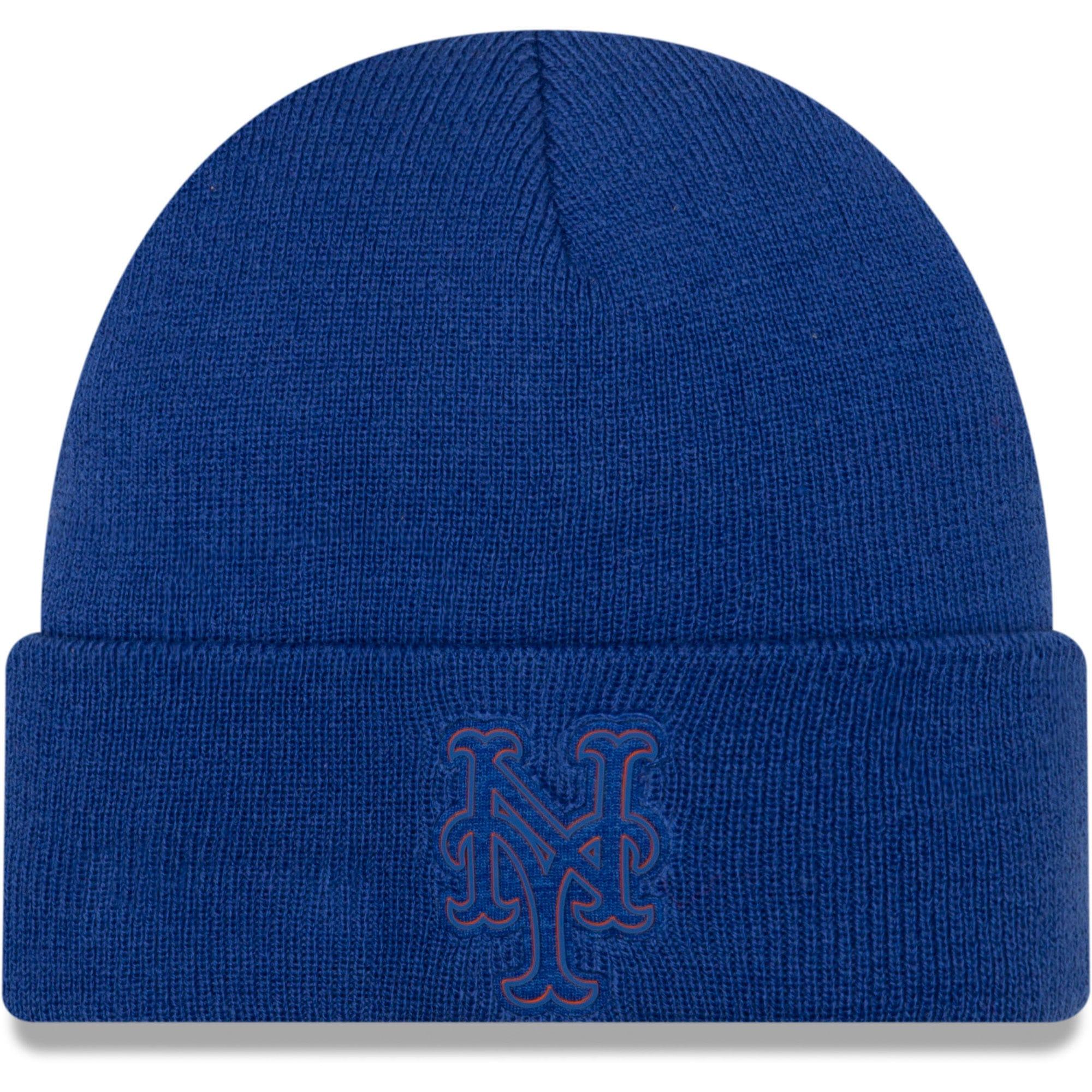 New York Mets New Era Vivid Cuffed Knit Hat - Royal