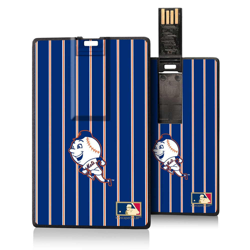 New York Mets 2014 Cooperstown Pinstripe Credit Card USB Drive