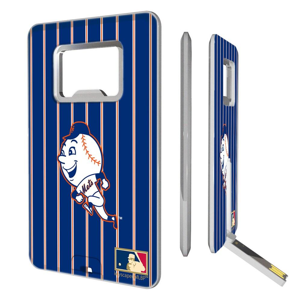 New York Mets 2014 Cooperstown Pinstripe Credit Card USB Drive & Bottle Opener