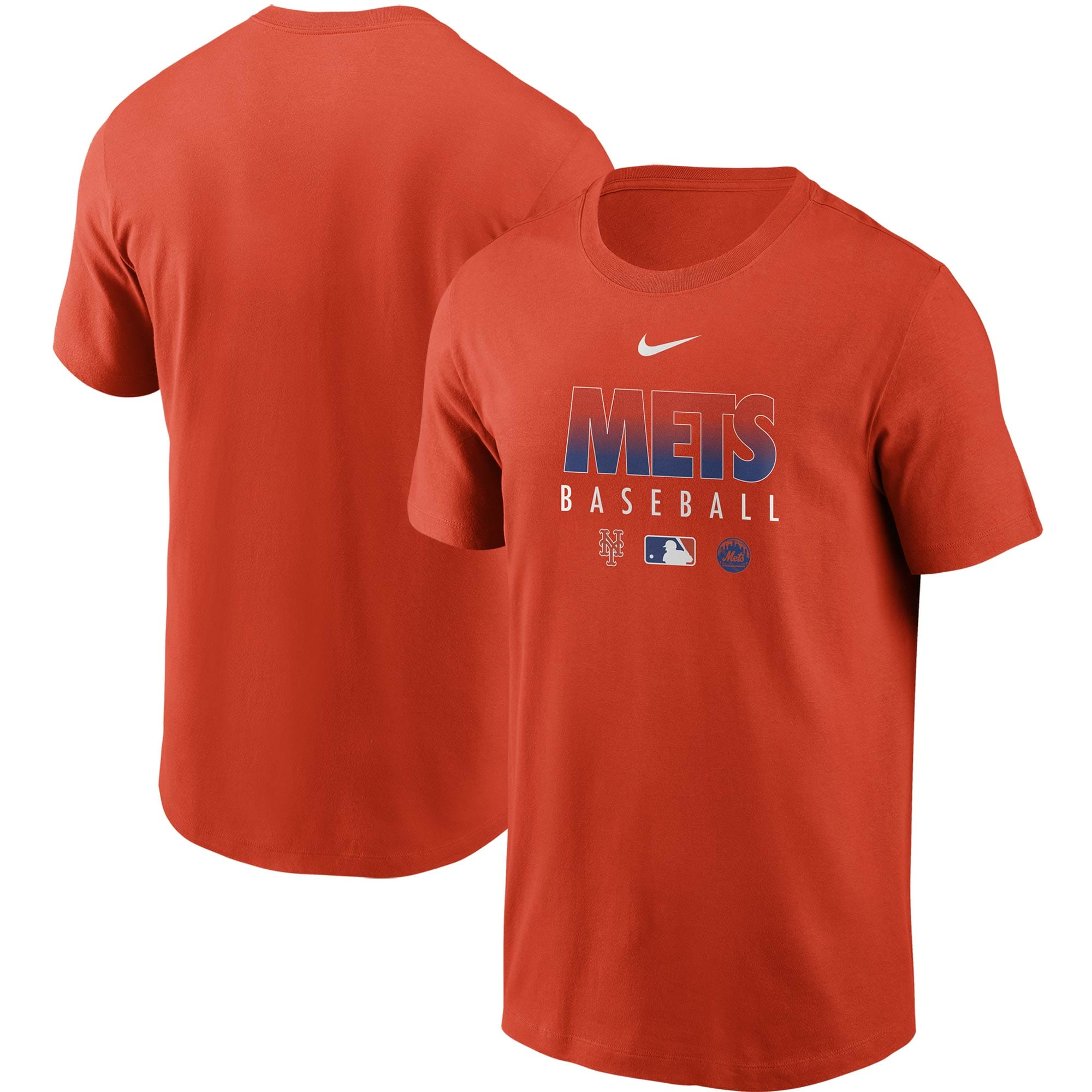 New York Mets Nike Authentic Collection Team Performance T-Shirt - Orange