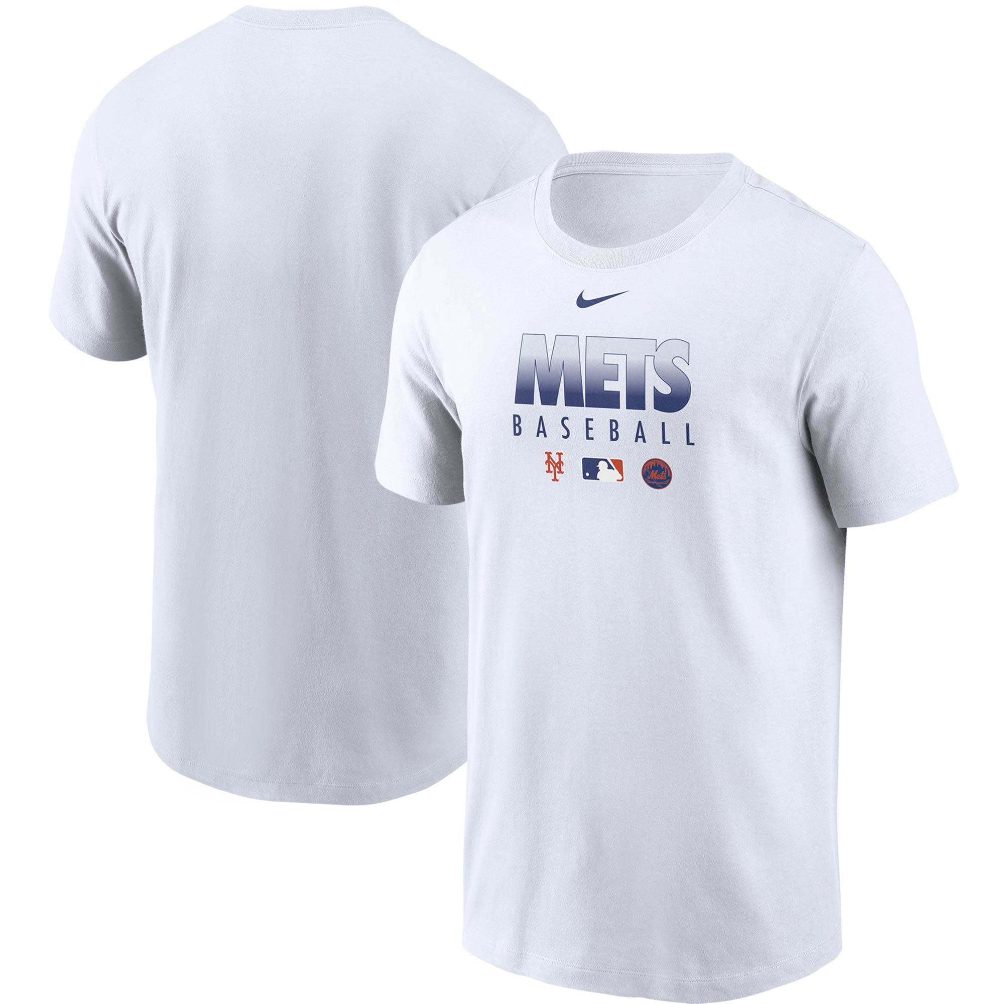 New York Mets Nike Authentic Collection Team Performance T-Shirt - White