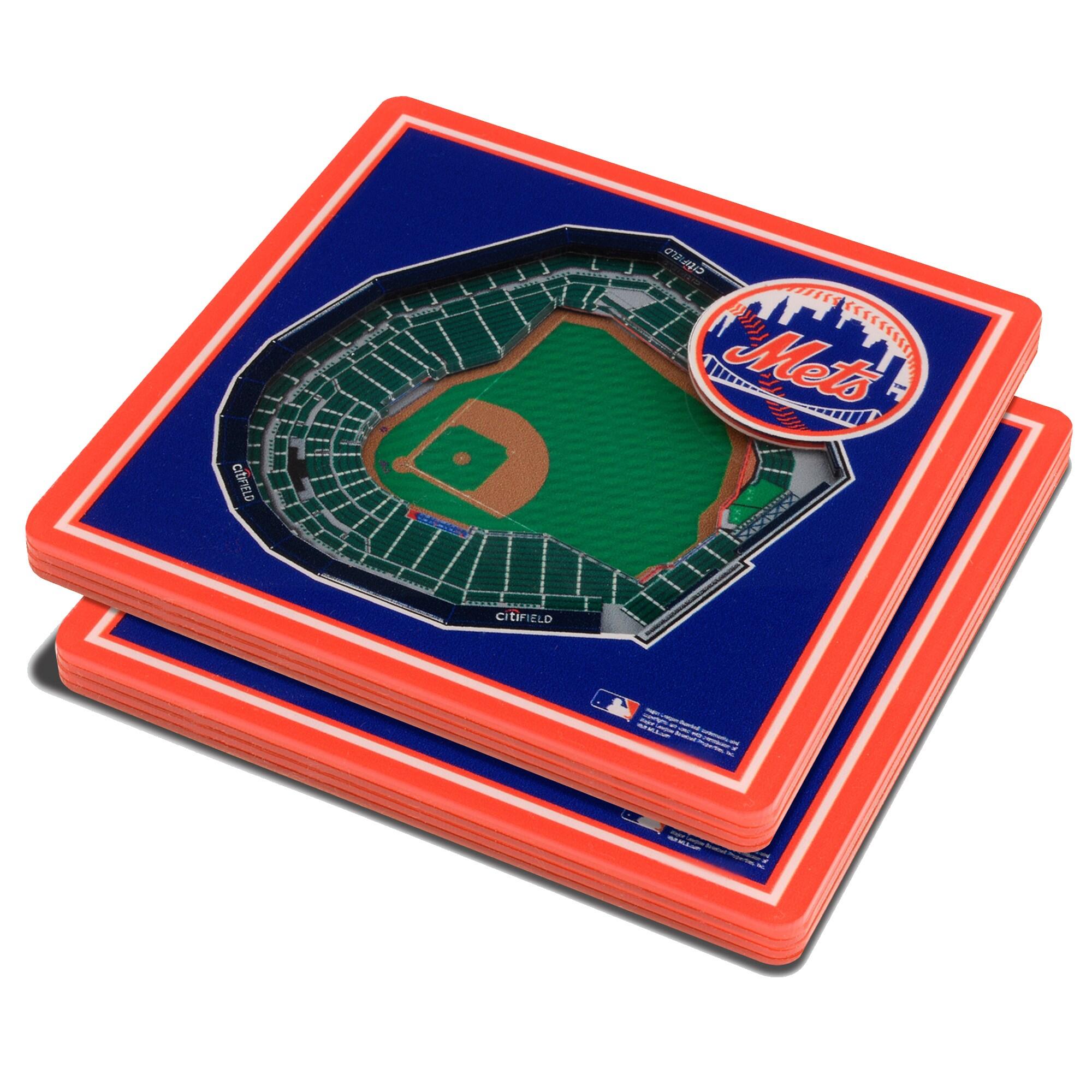 New York Mets 3D StadiumViews Coasters - Blue
