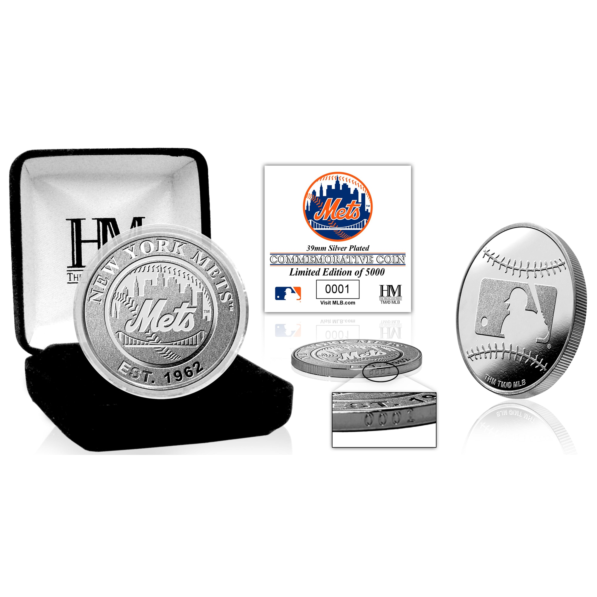 New York Mets Highland Mint Silver Mint Coin