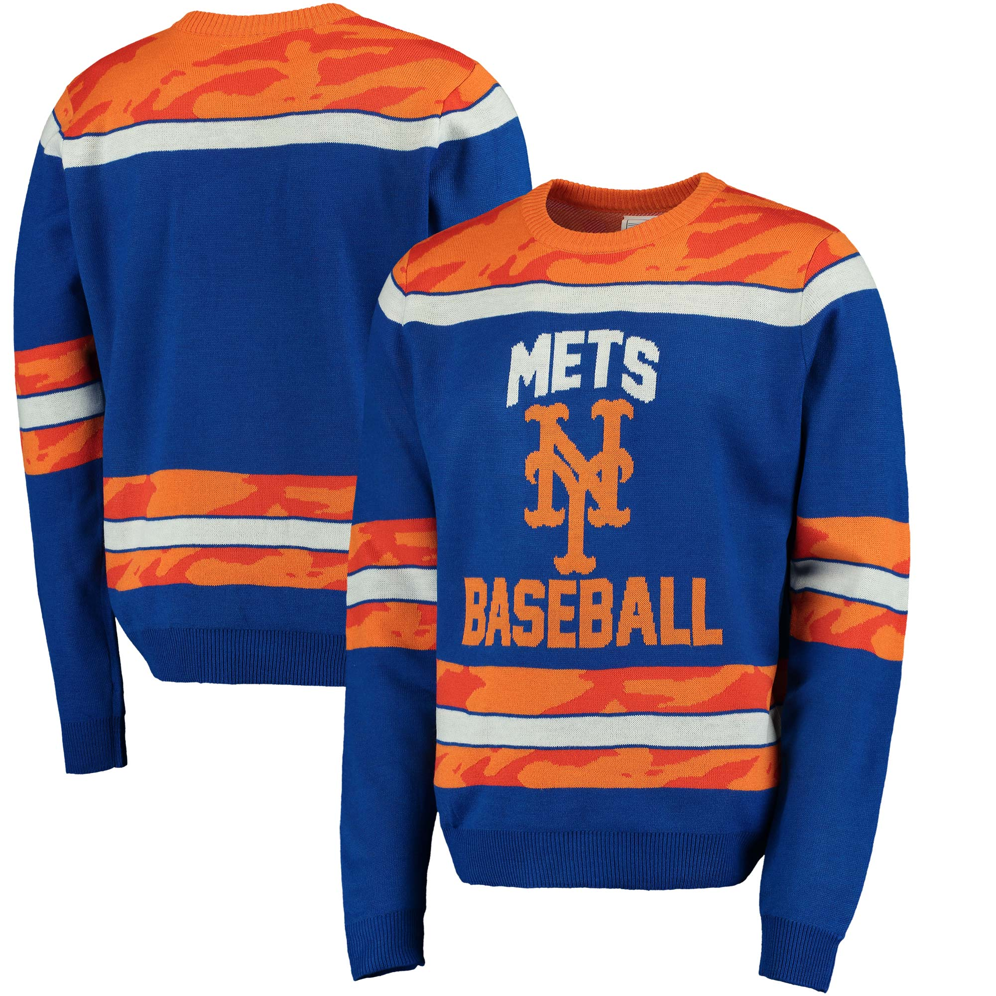 New York Mets Camouflage Team Sweater - Royal