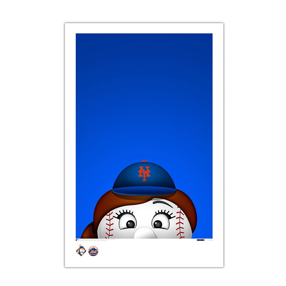 "New York Mets Mrs. Met 11"" x 17"" Minimalist Art Poster"