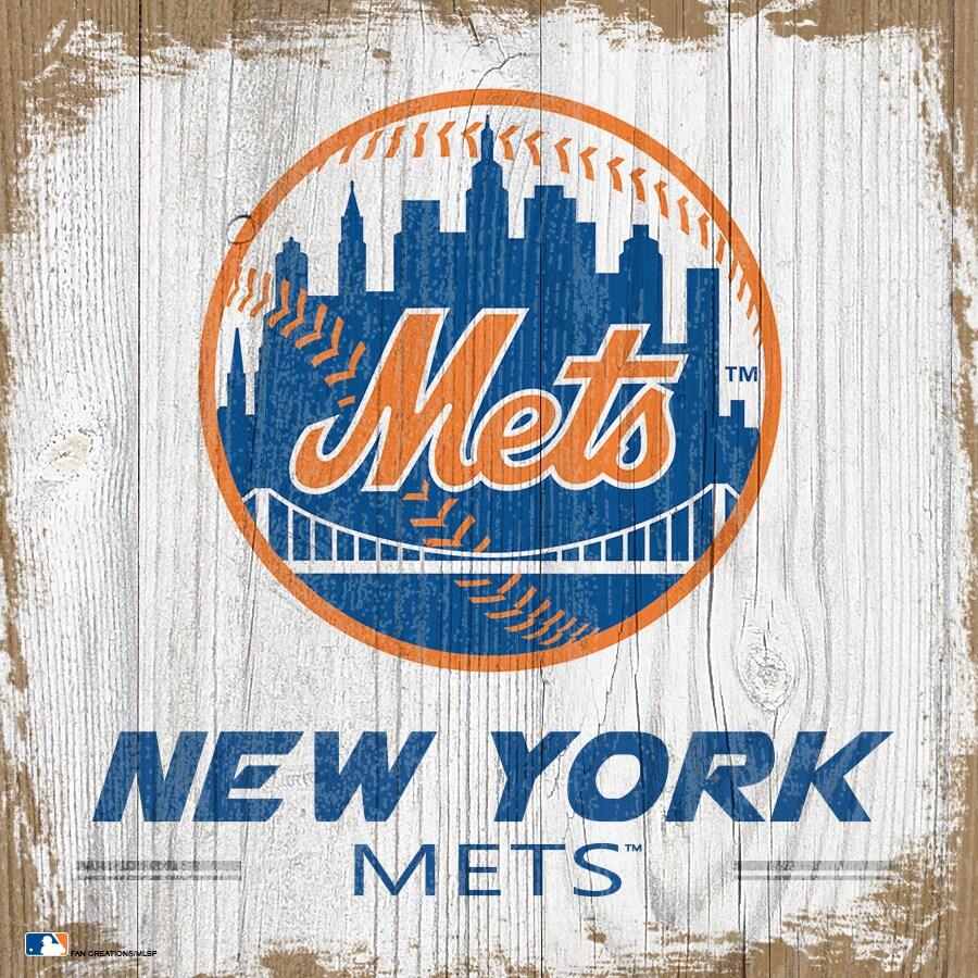 New York Mets 6'' x 6'' Team Logo Block