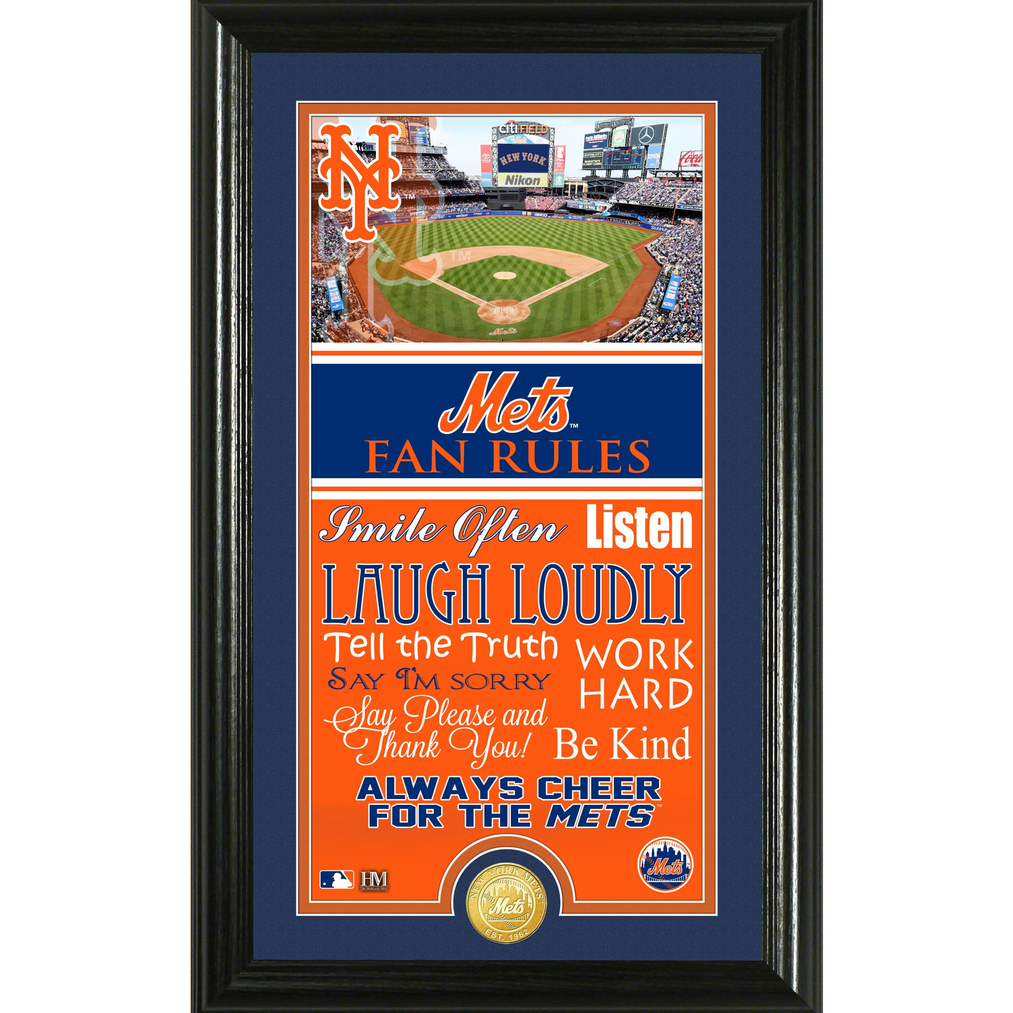 New York Mets Highland Mint Fan Rules Supreme Bronze Coin Photo Mint
