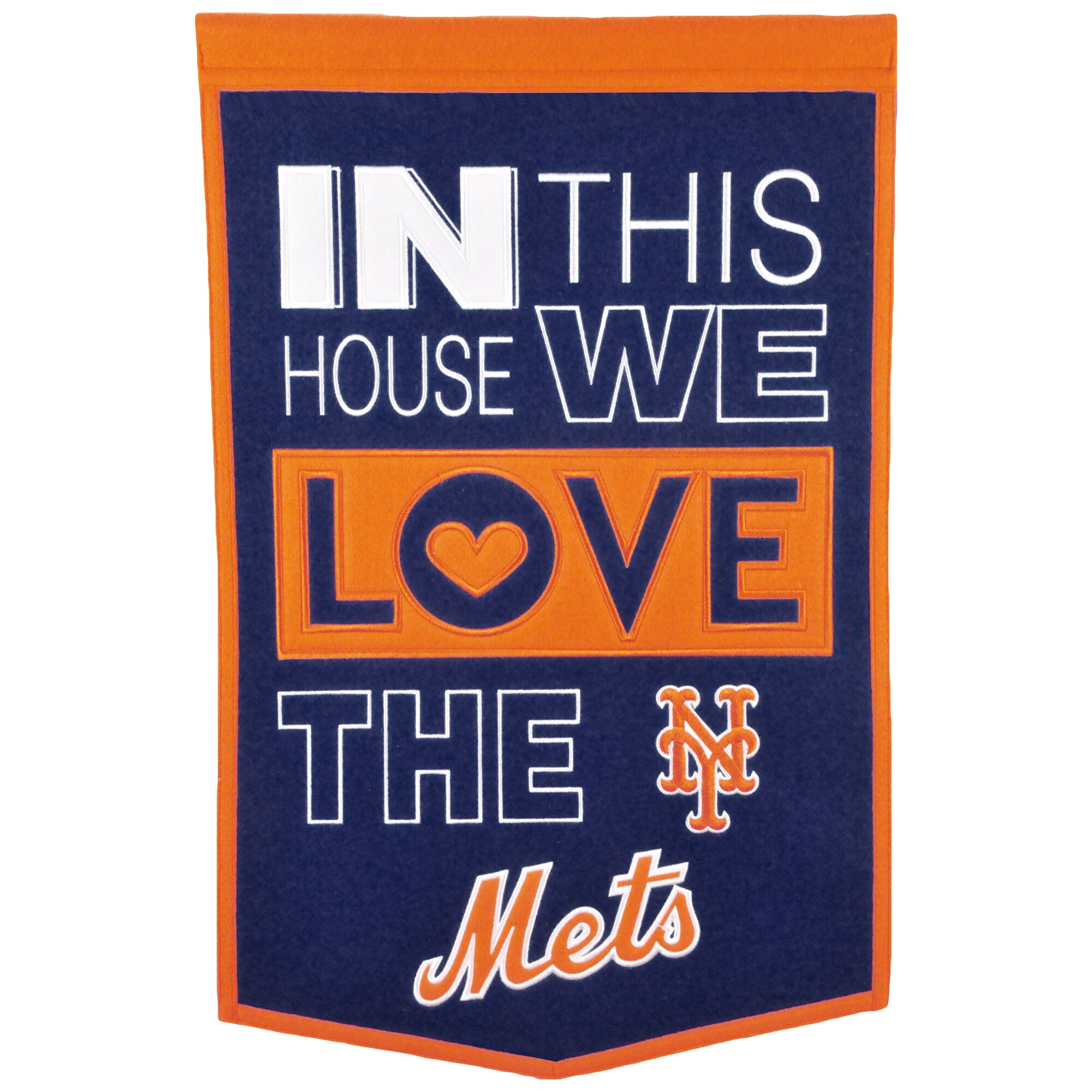 New York Mets 15'' x 24'' Home Banner - Blue/Orange