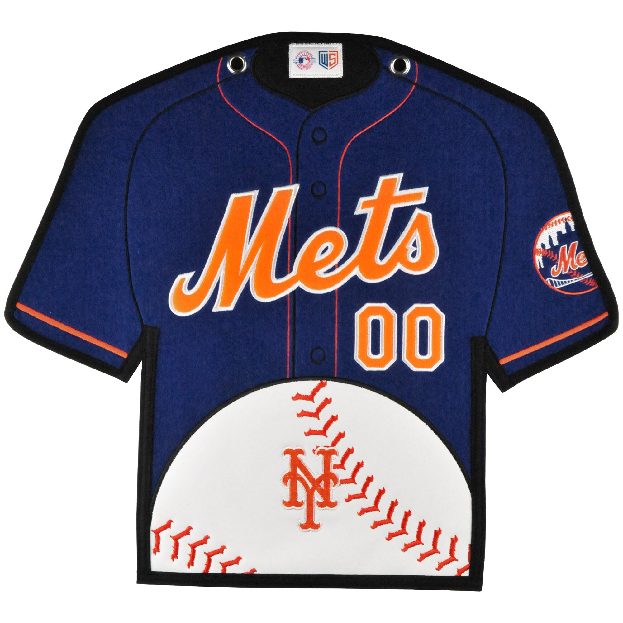 New York Mets 14'' x 22'' Jersey Traditions Banner - Blue/Orange