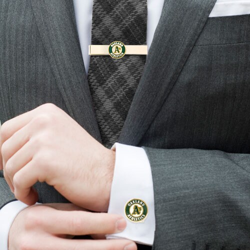 Oakland Athletics Tie Bar & Cufflinks Set