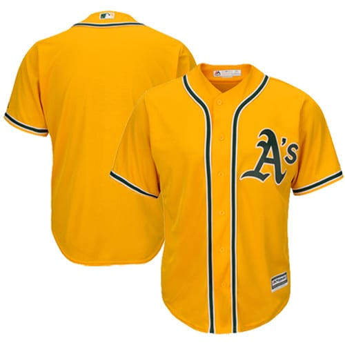 Oakland Athletics Majestic Official Cool Base Team Jersey - Gold