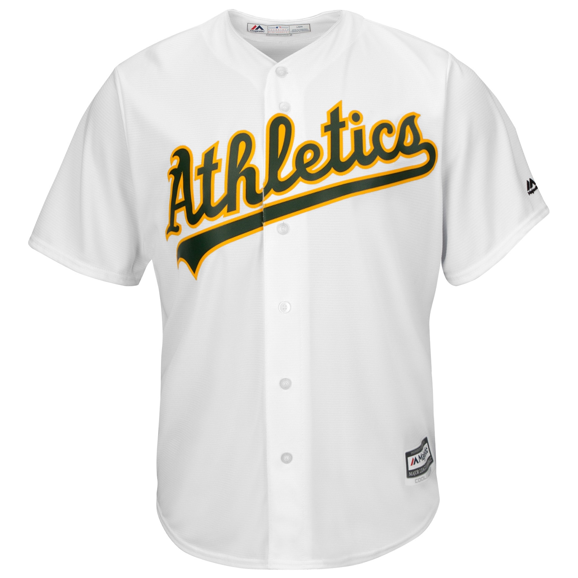 Oakland Athletics Majestic Youth Official Cool Base Jersey - White