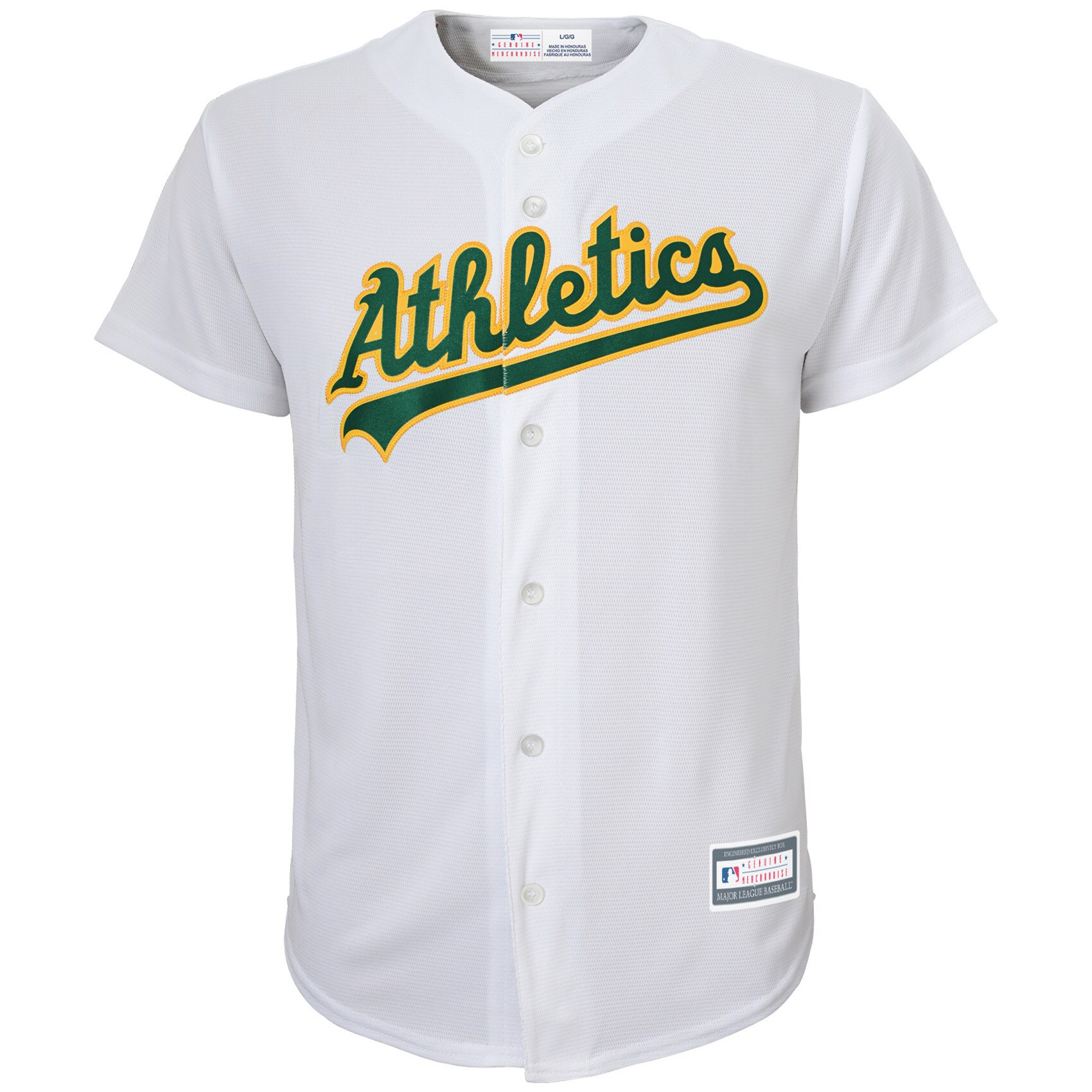 Oakland Athletics Youth Home Replica Blank Team Jersey - White