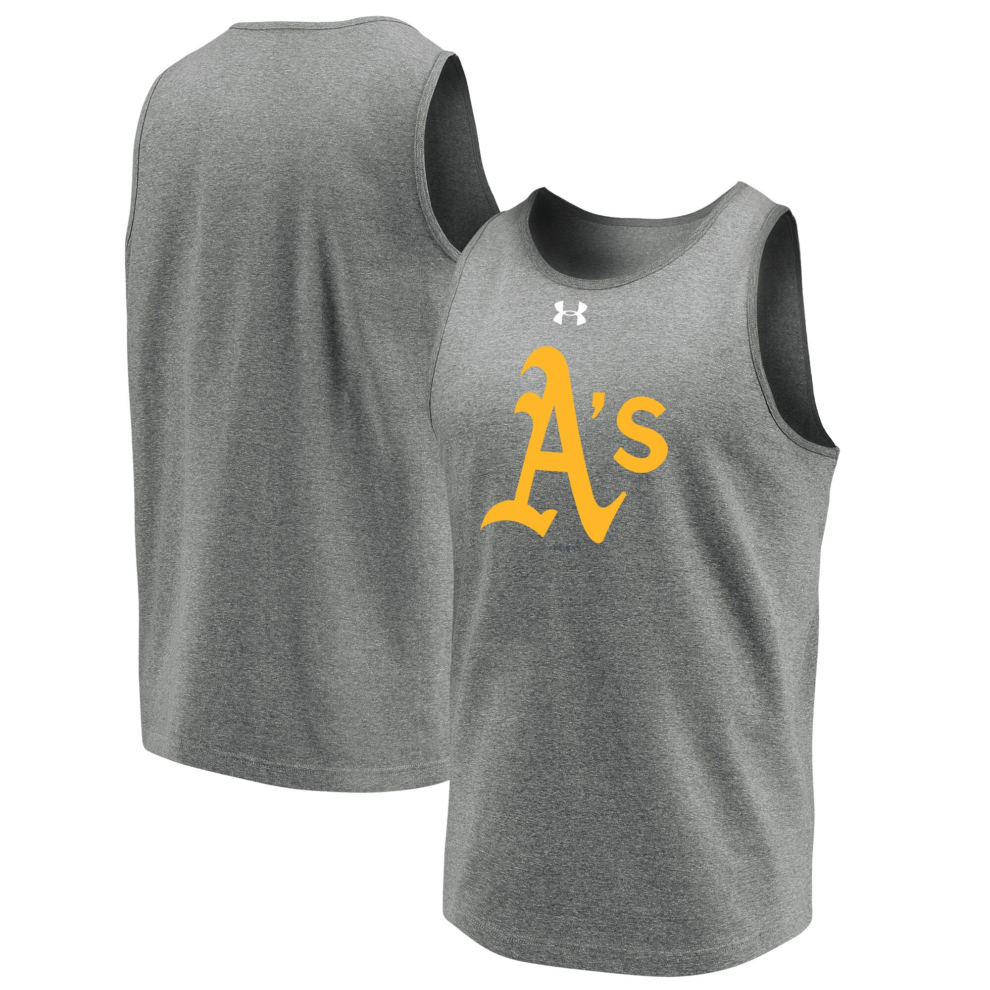 Oakland Athletics Under Armour Loyalty Team Mark Tank Top - Heathered Gray