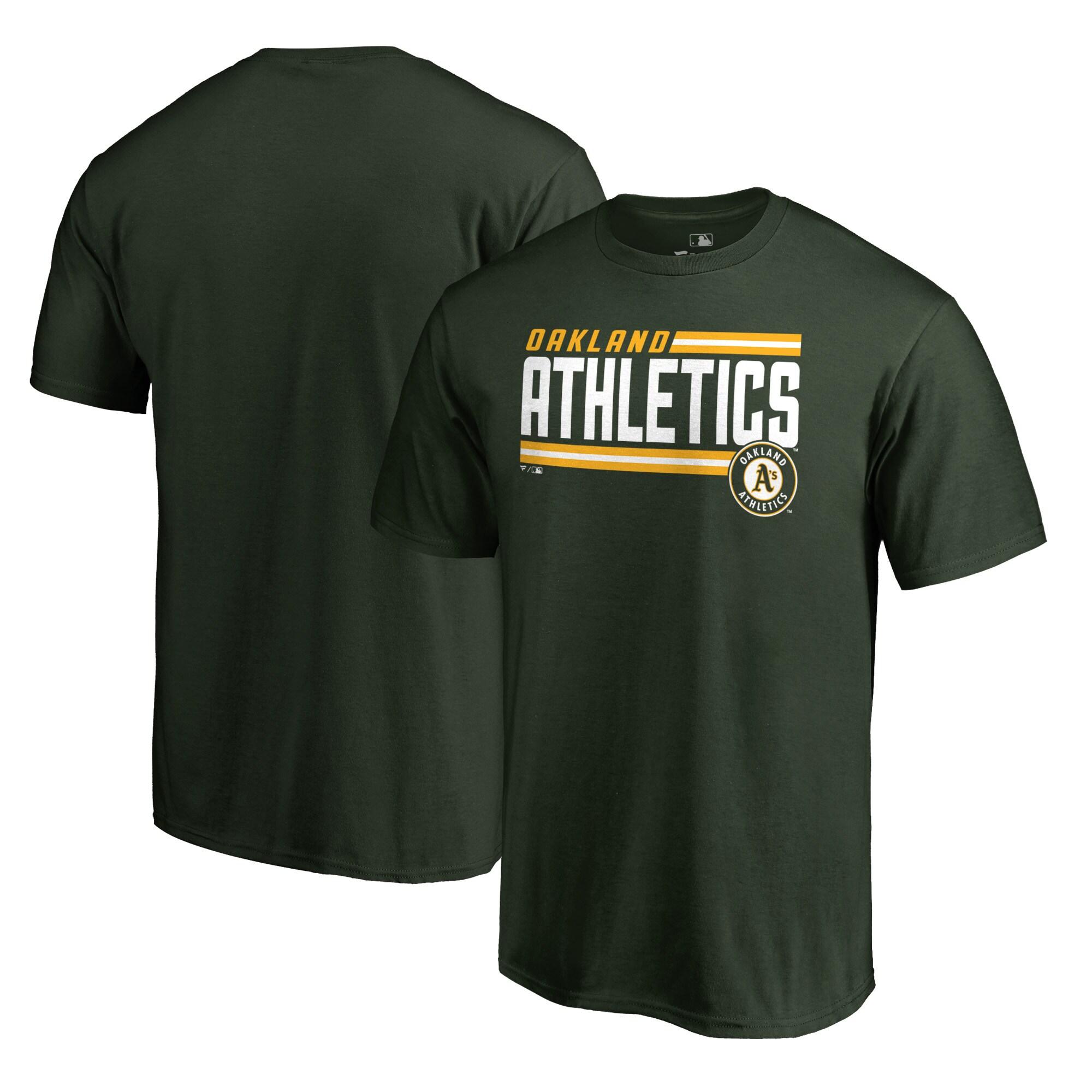 Oakland Athletics Fanatics Branded Onside Stripe T-Shirt - Green