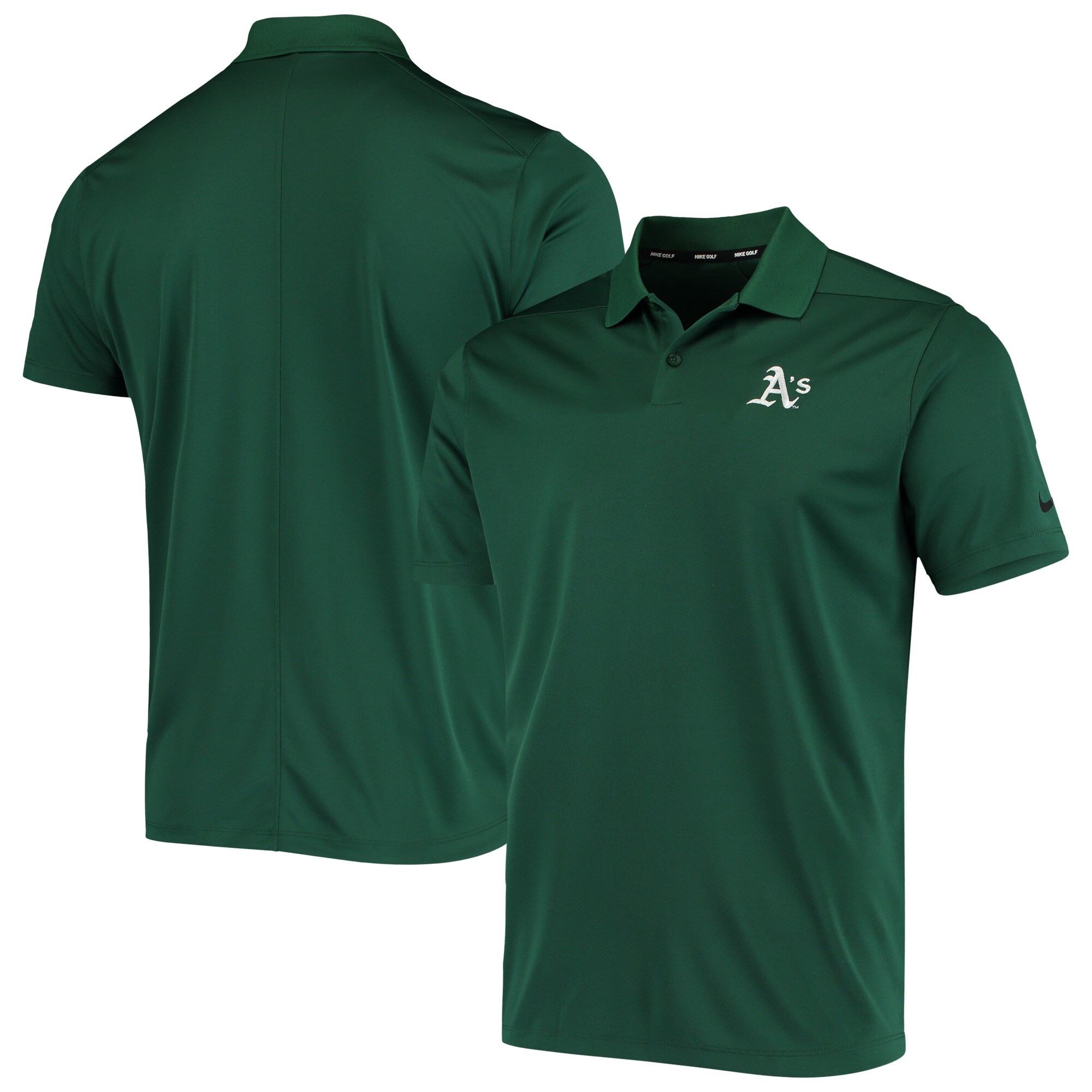 Oakland Athletics Nike Golf Solid Victory Performance Polo - Green