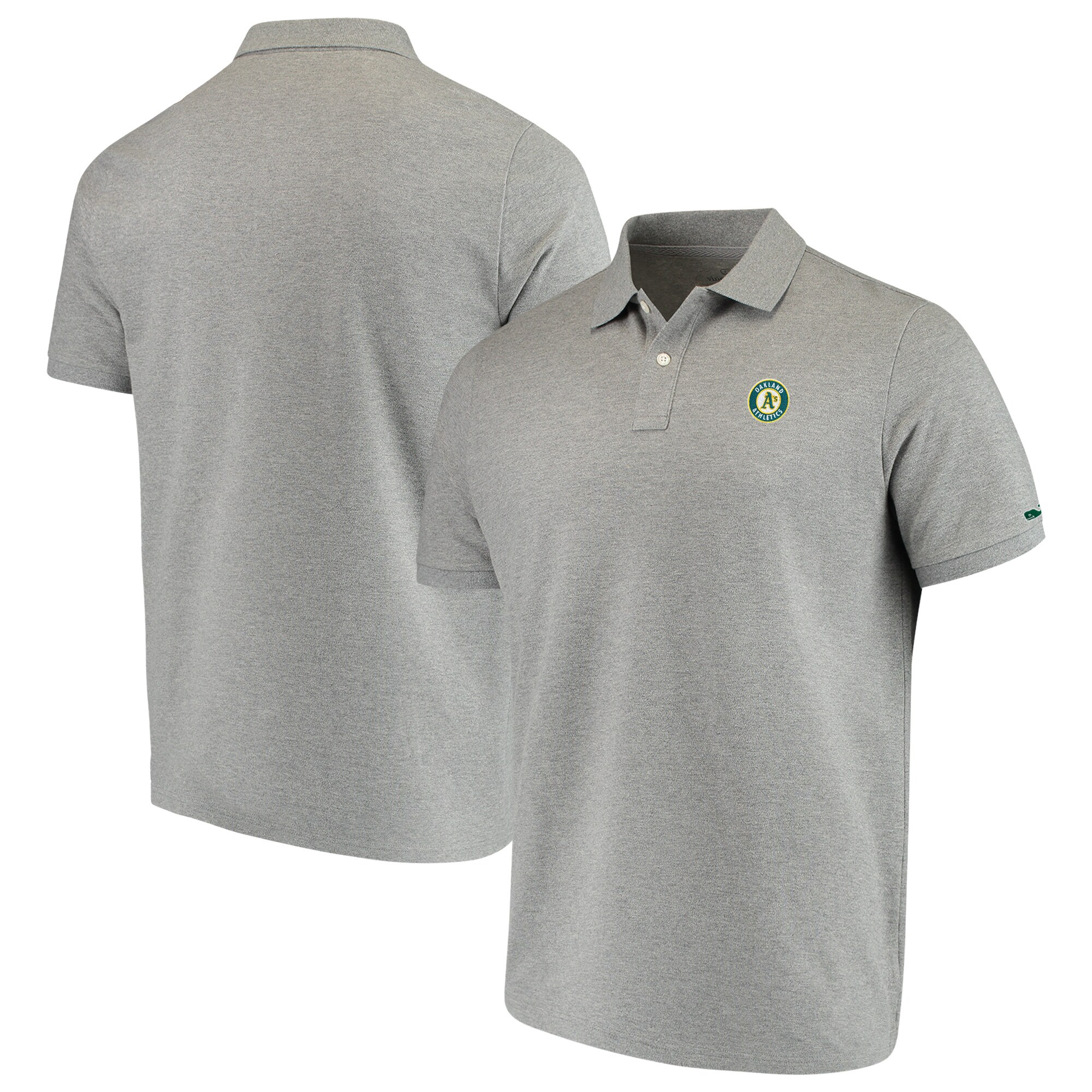 Oakland Athletics Vineyard Vines Stretch Pique Polo - Heathered Gray