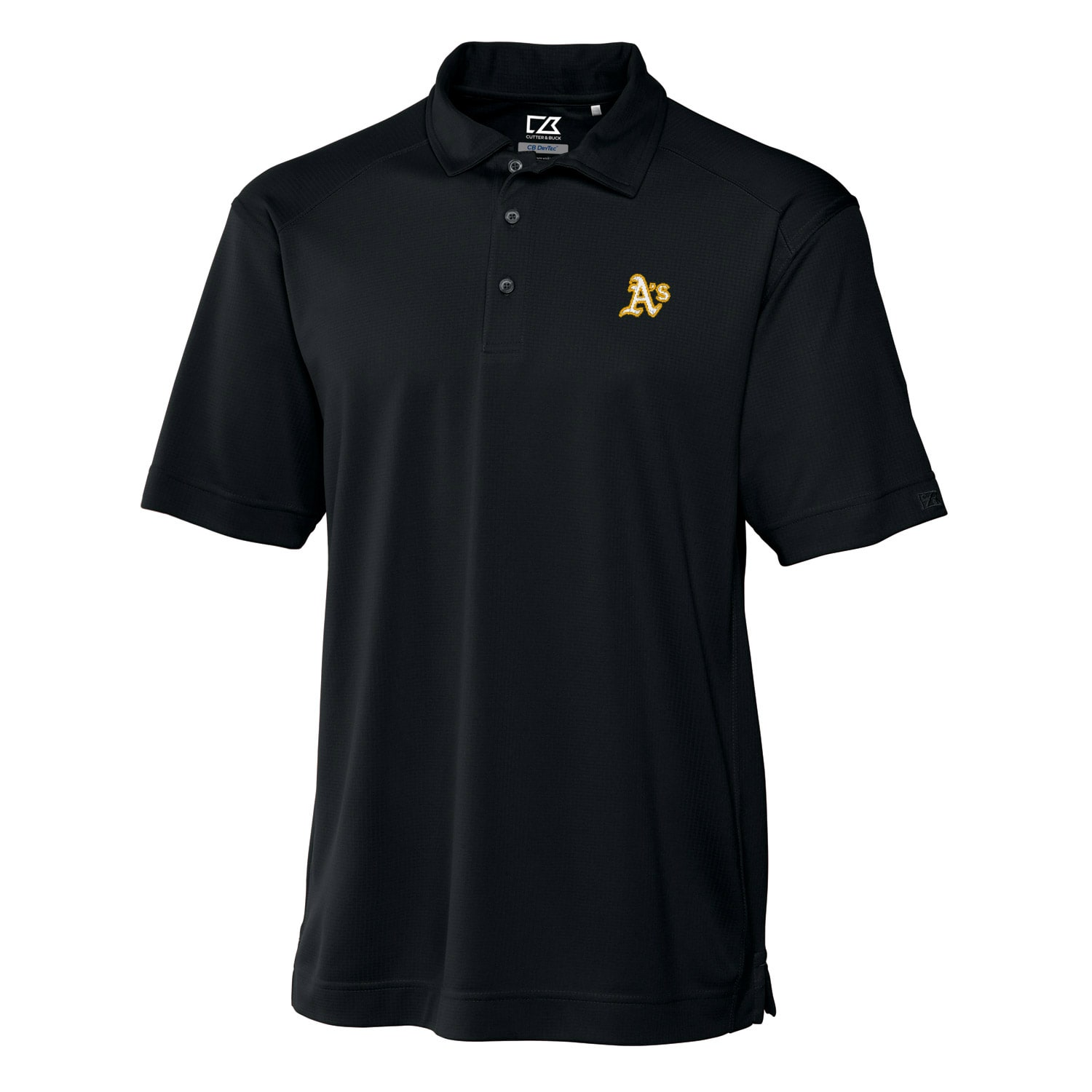 Oakland Athletics Cutter & Buck Big & Tall DryTec Genre Polo - Black