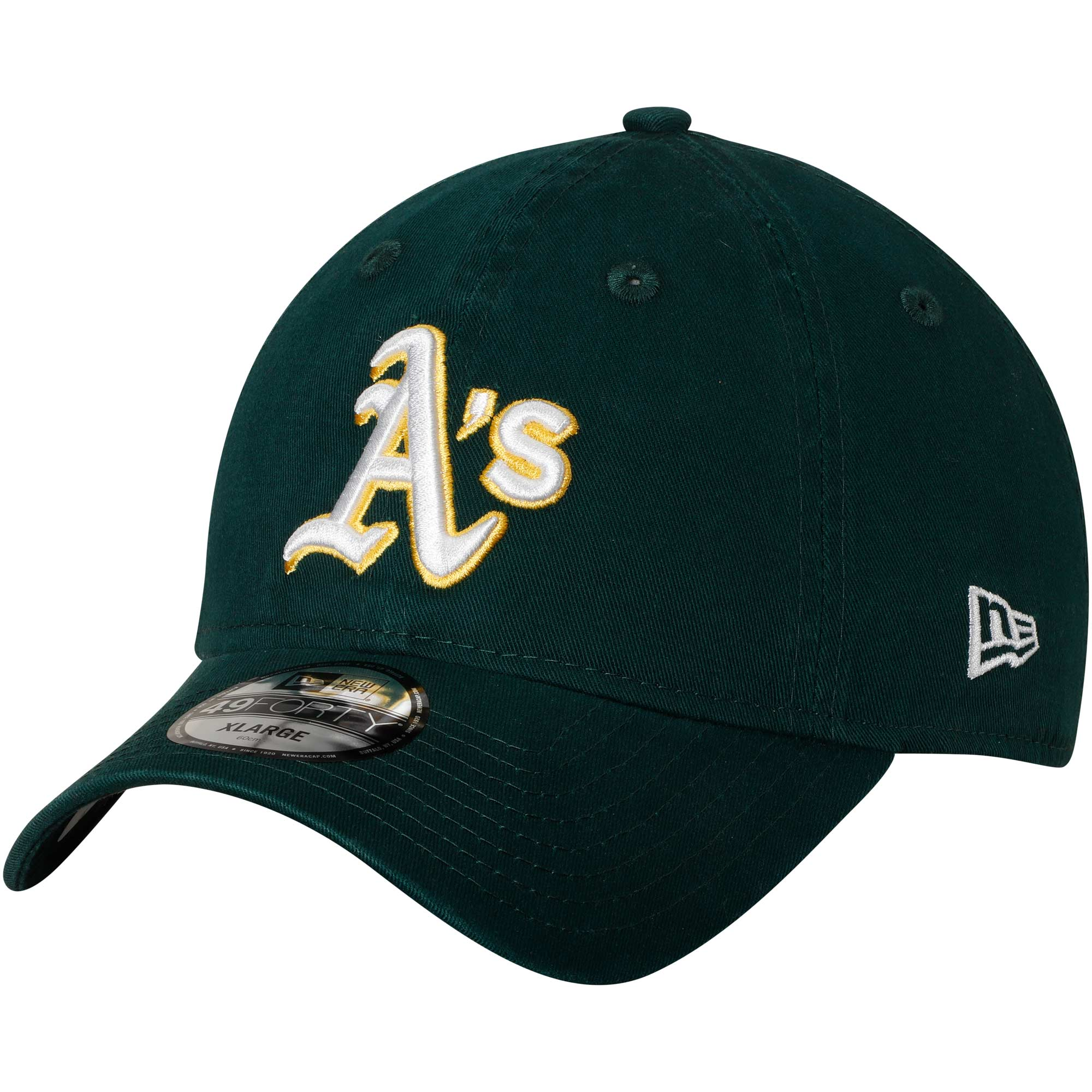 Oakland Athletics New Era Core Fit Replica 49FORTY Fitted Hat - Green