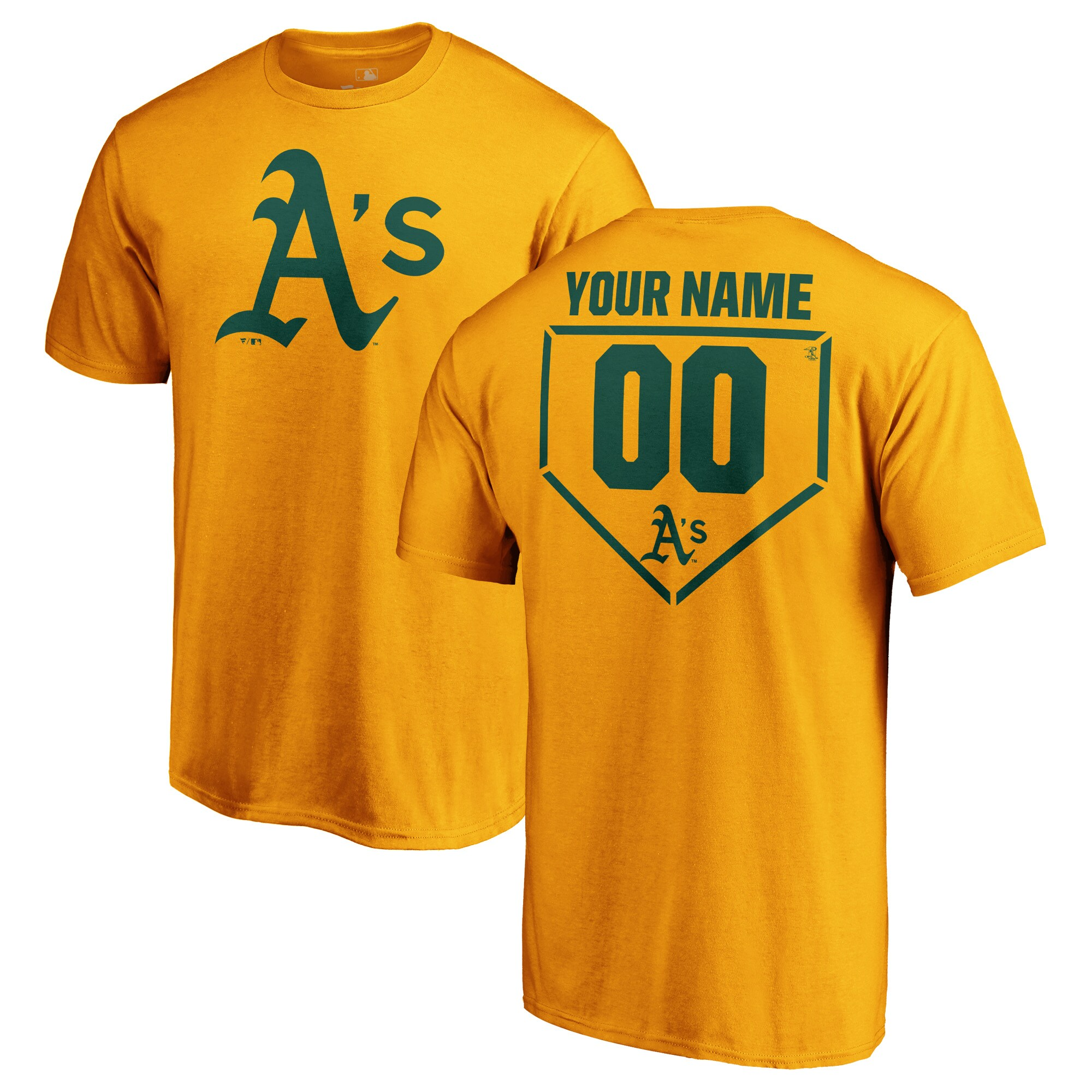 Oakland Athletics Fanatics Branded Personalized RBI T-Shirt - Gold