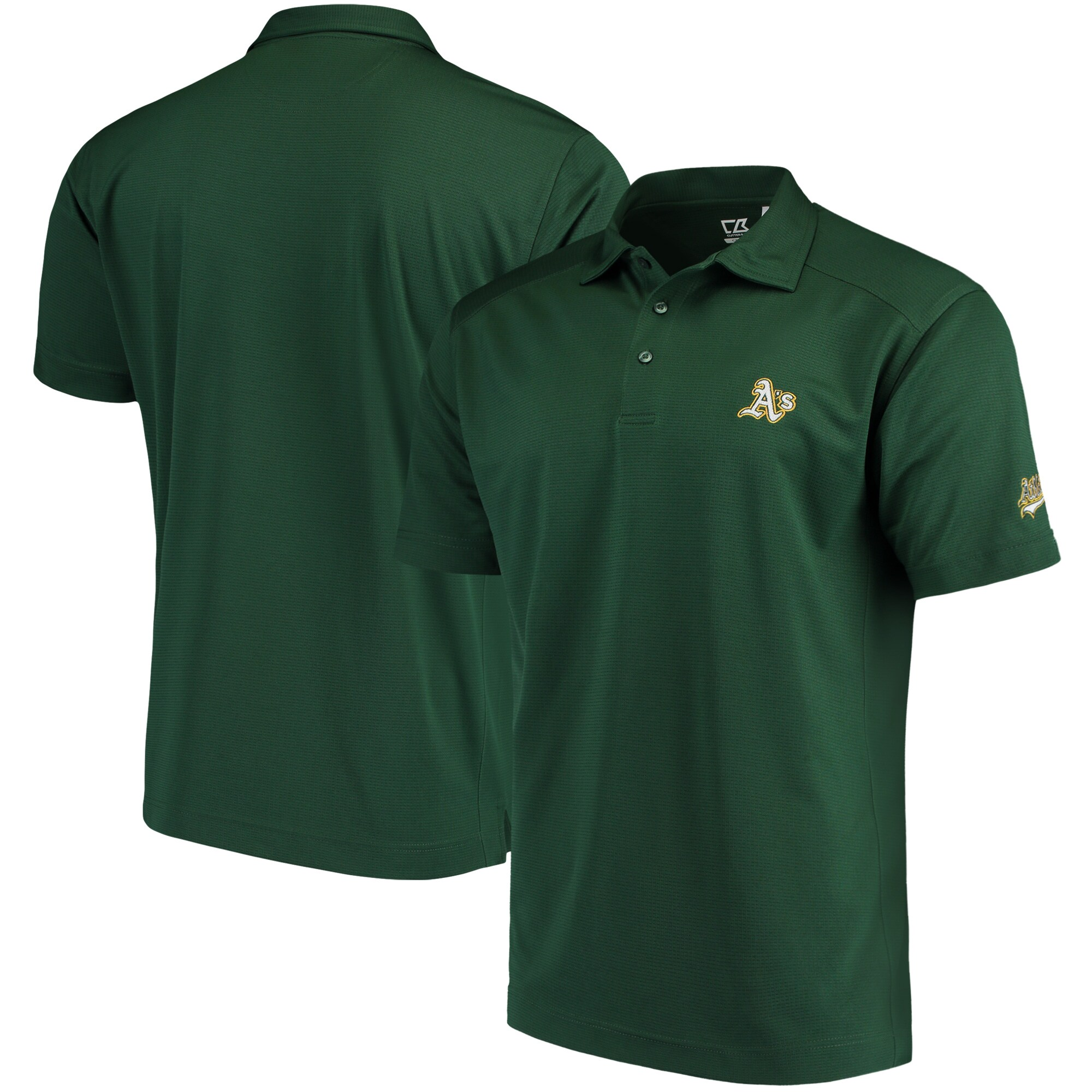 Oakland Athletics CBUK by Cutter & Buck Genre DryTec Polo - Green