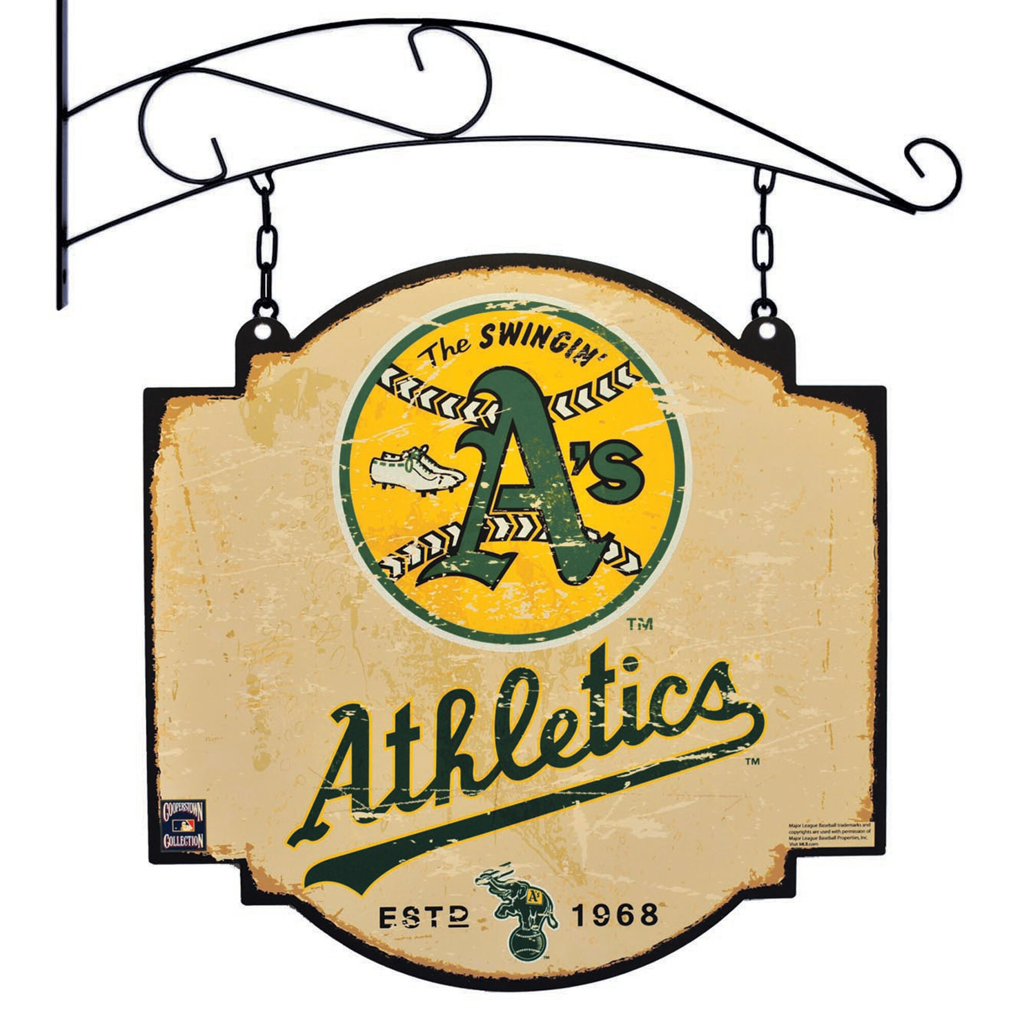 "Oakland Athletics 16"" x 16"" Tavern Sign - Cream"