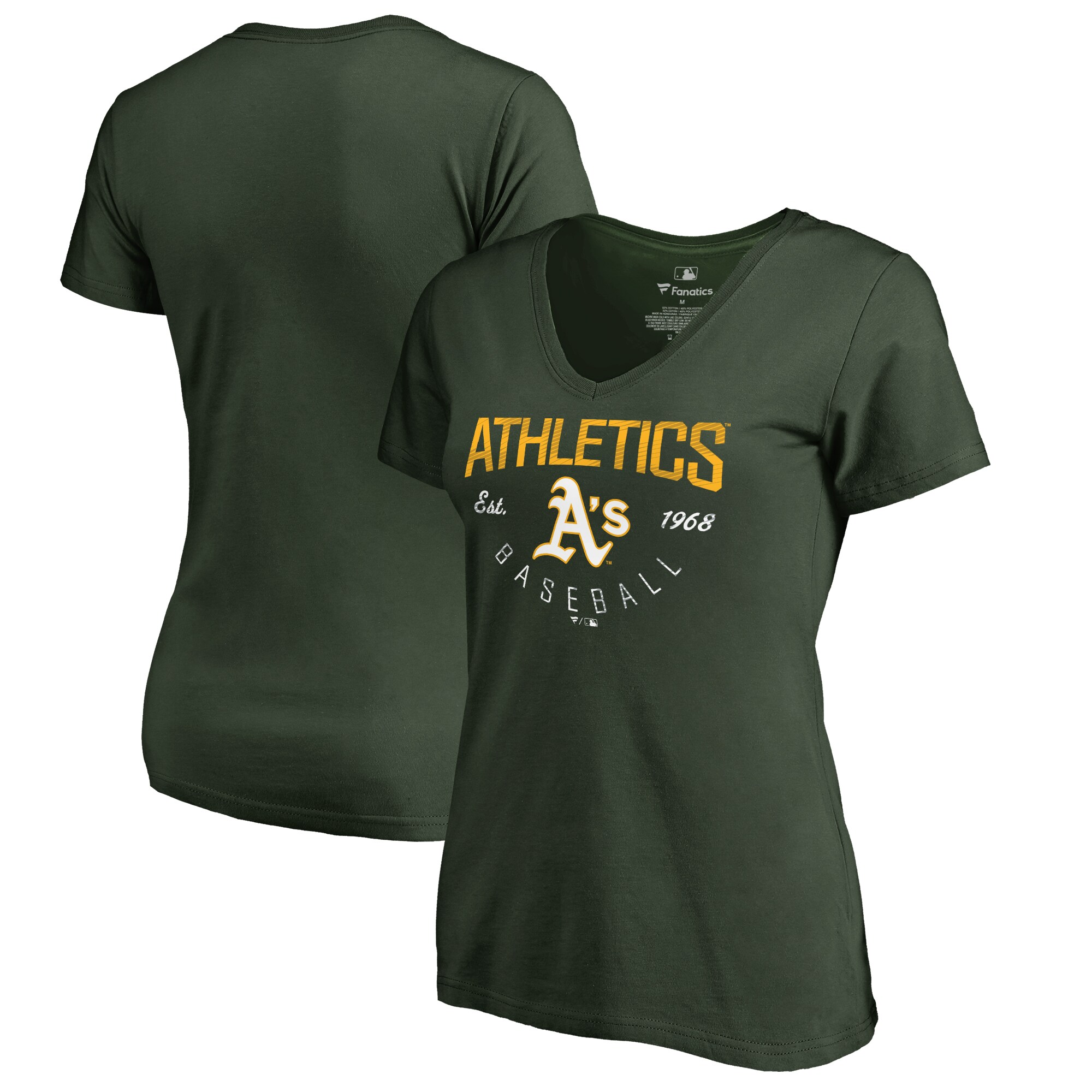 Oakland Athletics Fanatics Branded Women's Plus Sizes Live For It T-Shirt - Green