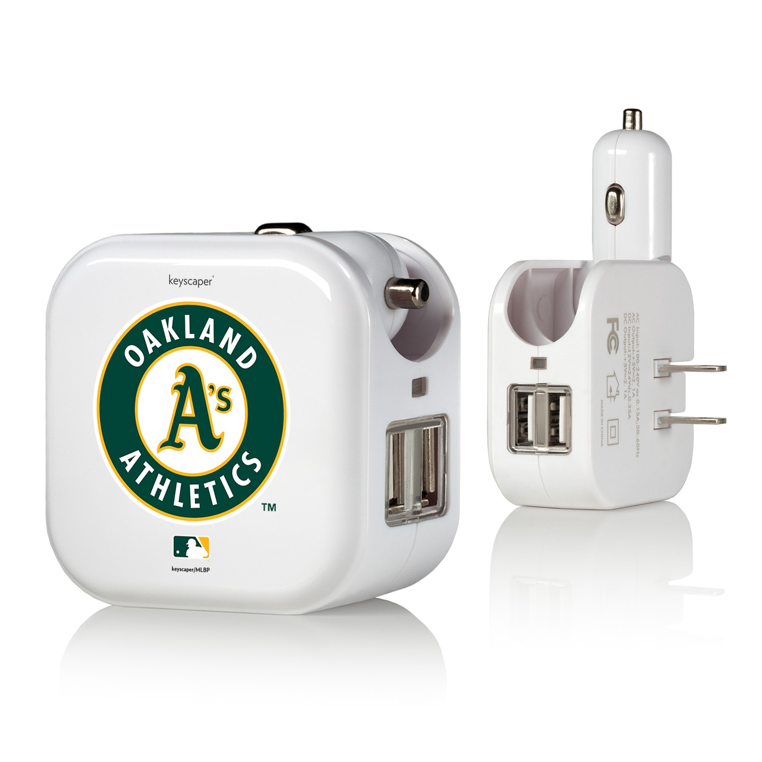 Oakland Athletics 2-In-1 USB Charger