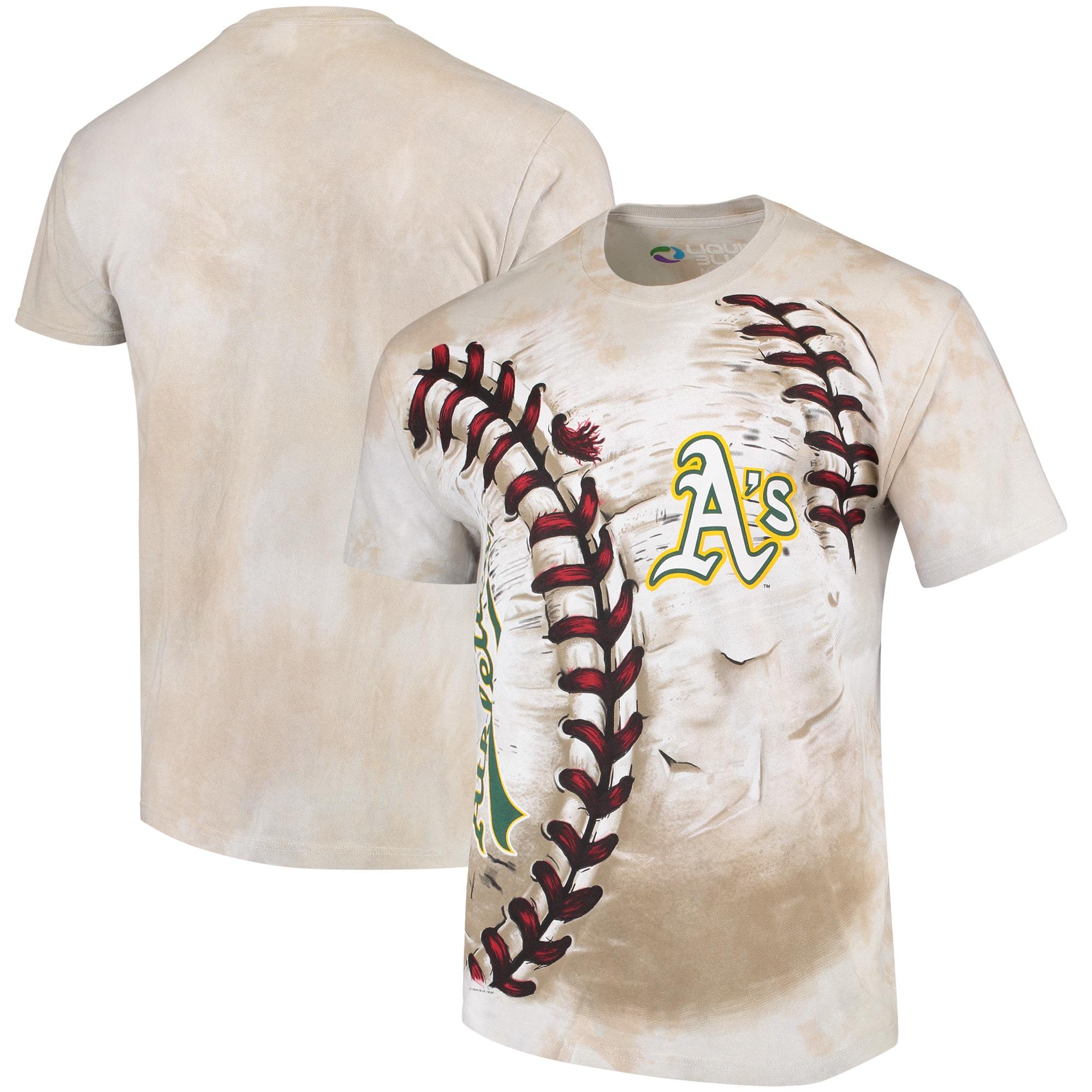 Oakland Athletics Hardball Tie-Dye T- Shirt - Cream