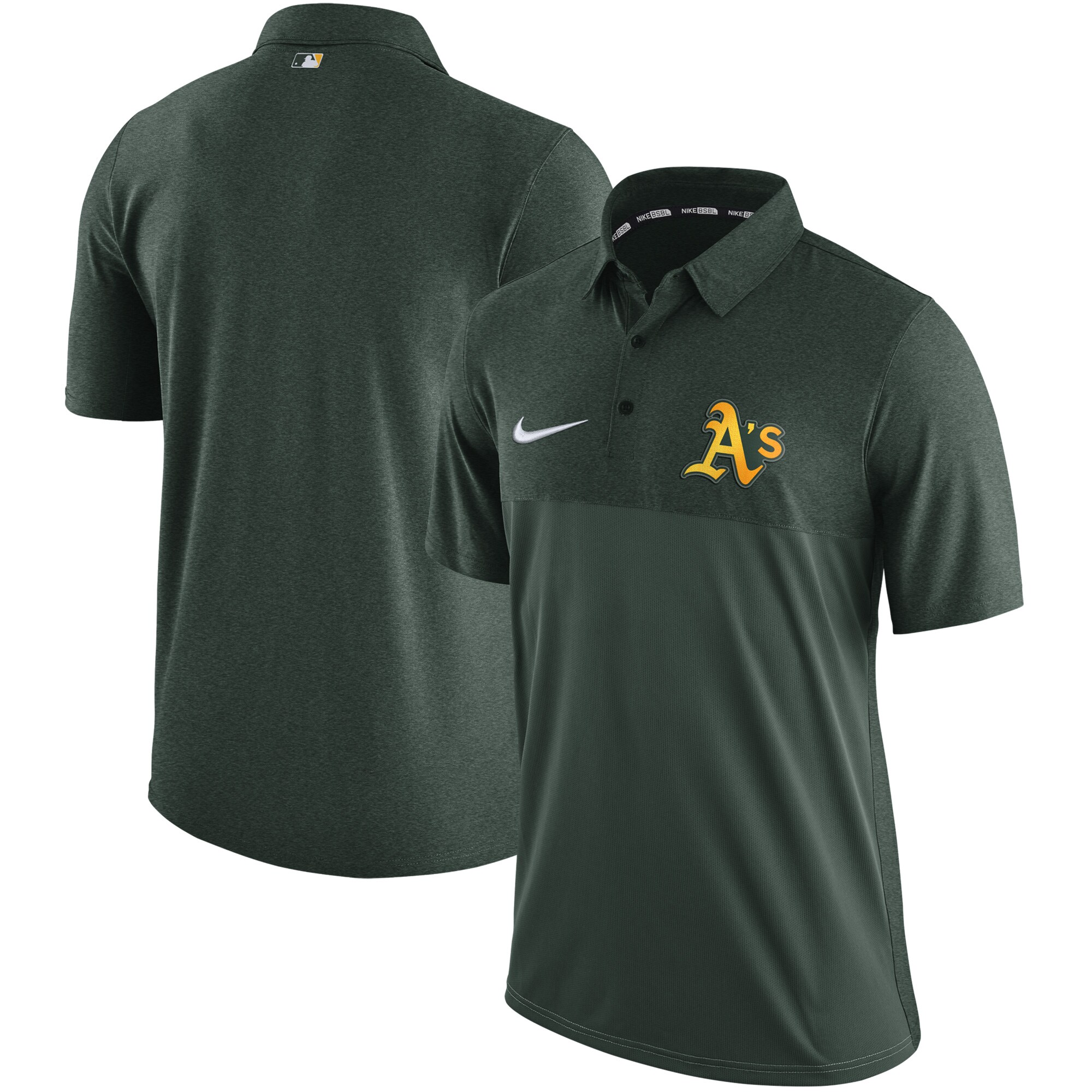 Oakland Athletics Nike Authentic Collection Elite Polo - Green