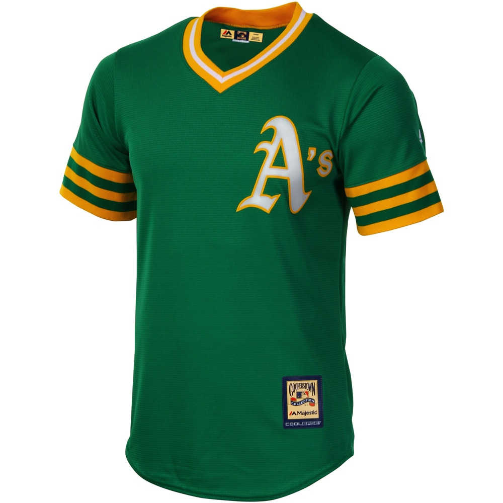 Oakland Athletics Majestic Cooperstown Cool Base Team Jersey - Green
