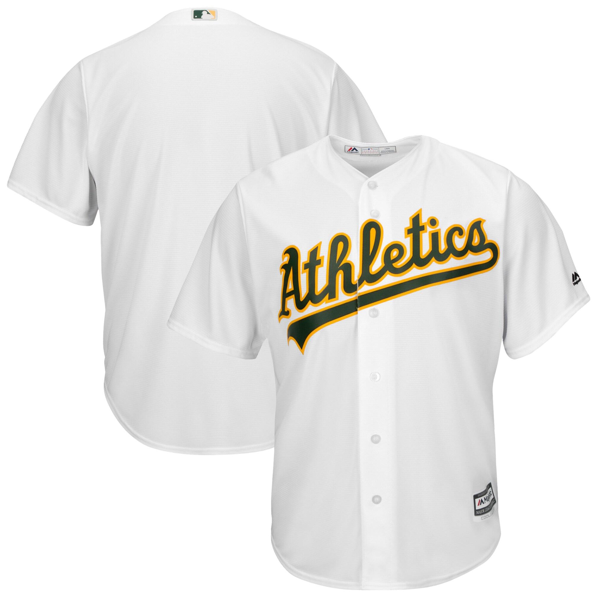 Oakland Athletics Majestic Big & Tall Cool Base Team Jersey - White