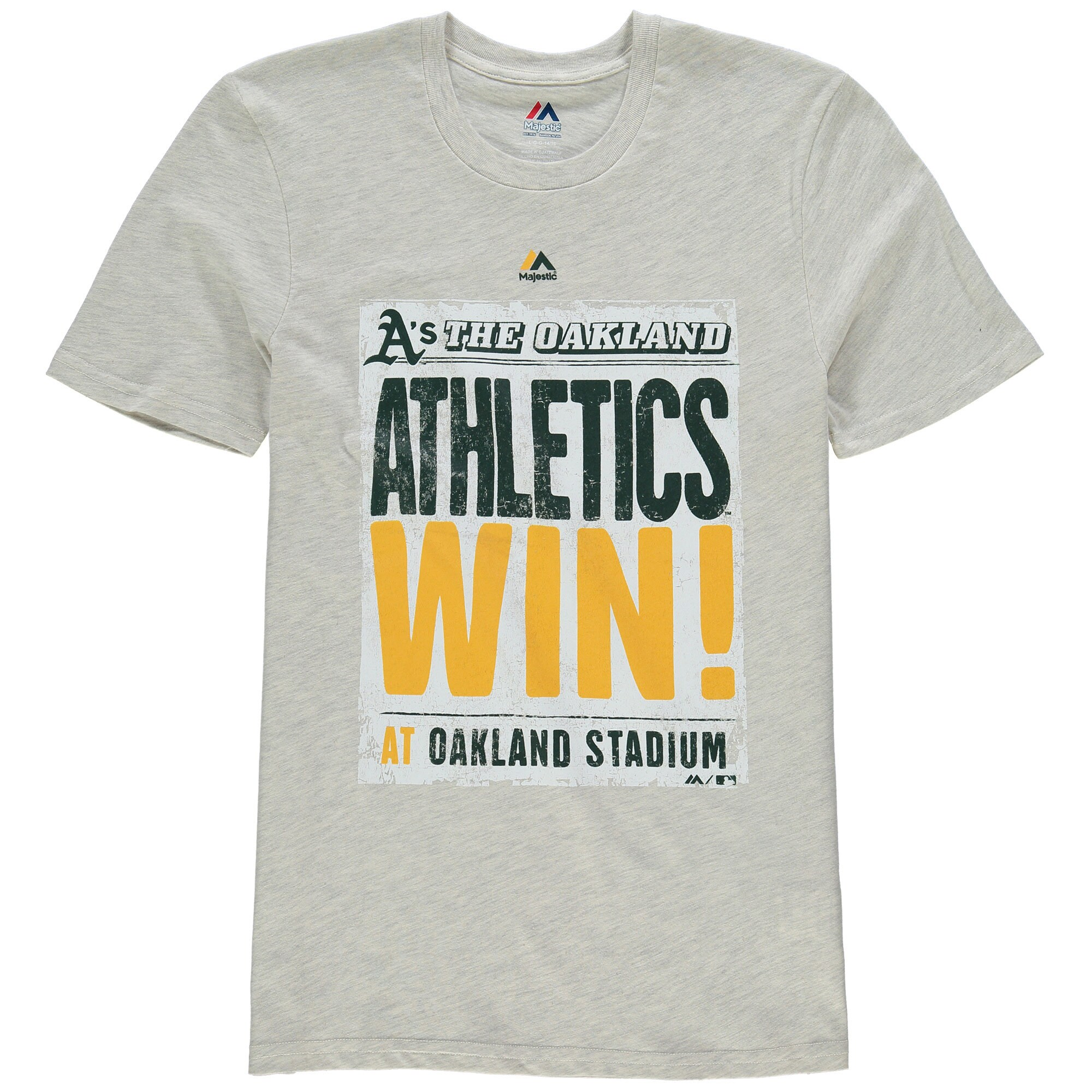 Oakland Athletics Majestic Youth Front Page T-Shirt - Cream