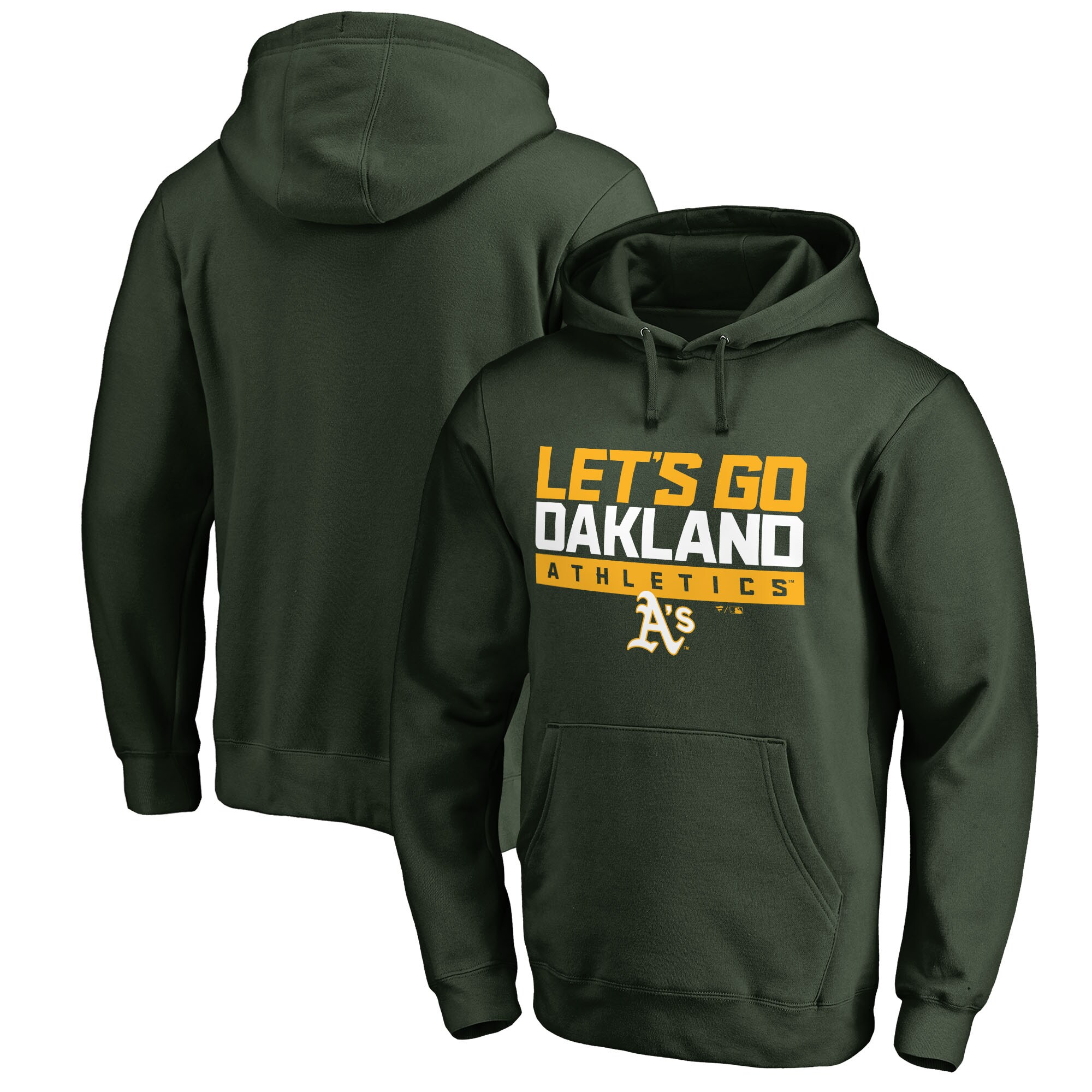 Oakland Athletics Fanatics Branded Hometown Collection Go Oakland Pullover Hoodie - Green