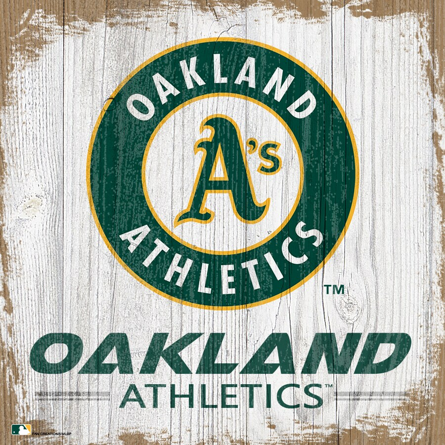 Oakland Athletics 6'' x 6'' Team Logo Block