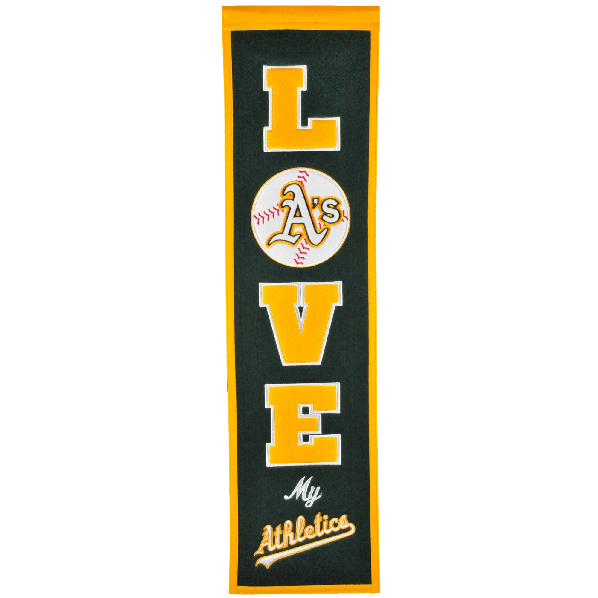 Oakland Athletics 8'' x 32'' Love Banner