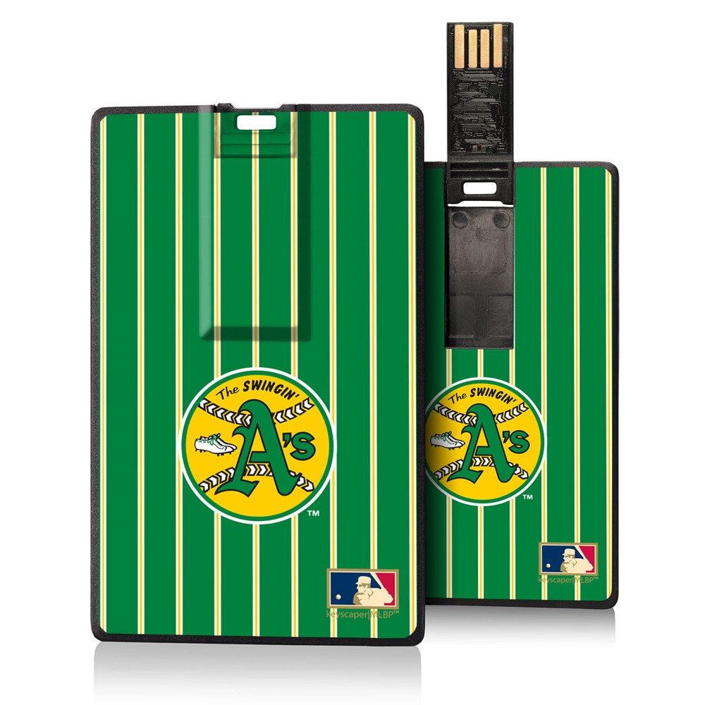 Oakland Athletics 1971-1981 Cooperstown Pinstripe Credit Card USB Drive