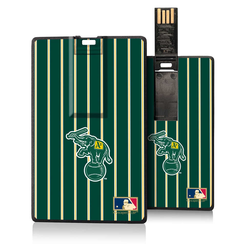 Oakland Athletics 1988 Cooperstown Pinstripe Credit Card USB Drive