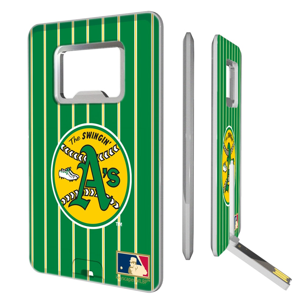 Oakland Athletics 1971-1981 Cooperstown Pinstripe Credit Card USB Drive & Bottle Opener