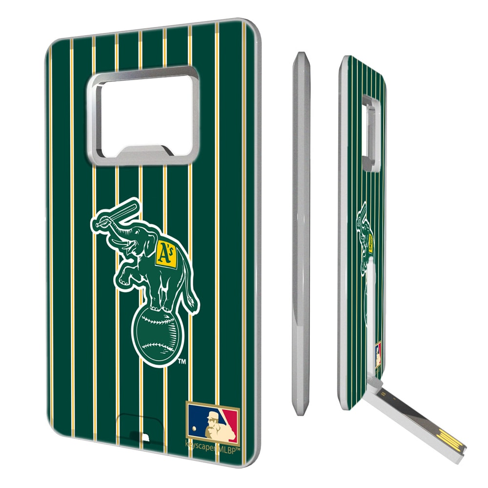Oakland Athletics 1988 Cooperstown Pinstripe Credit Card USB Drive & Bottle Opener