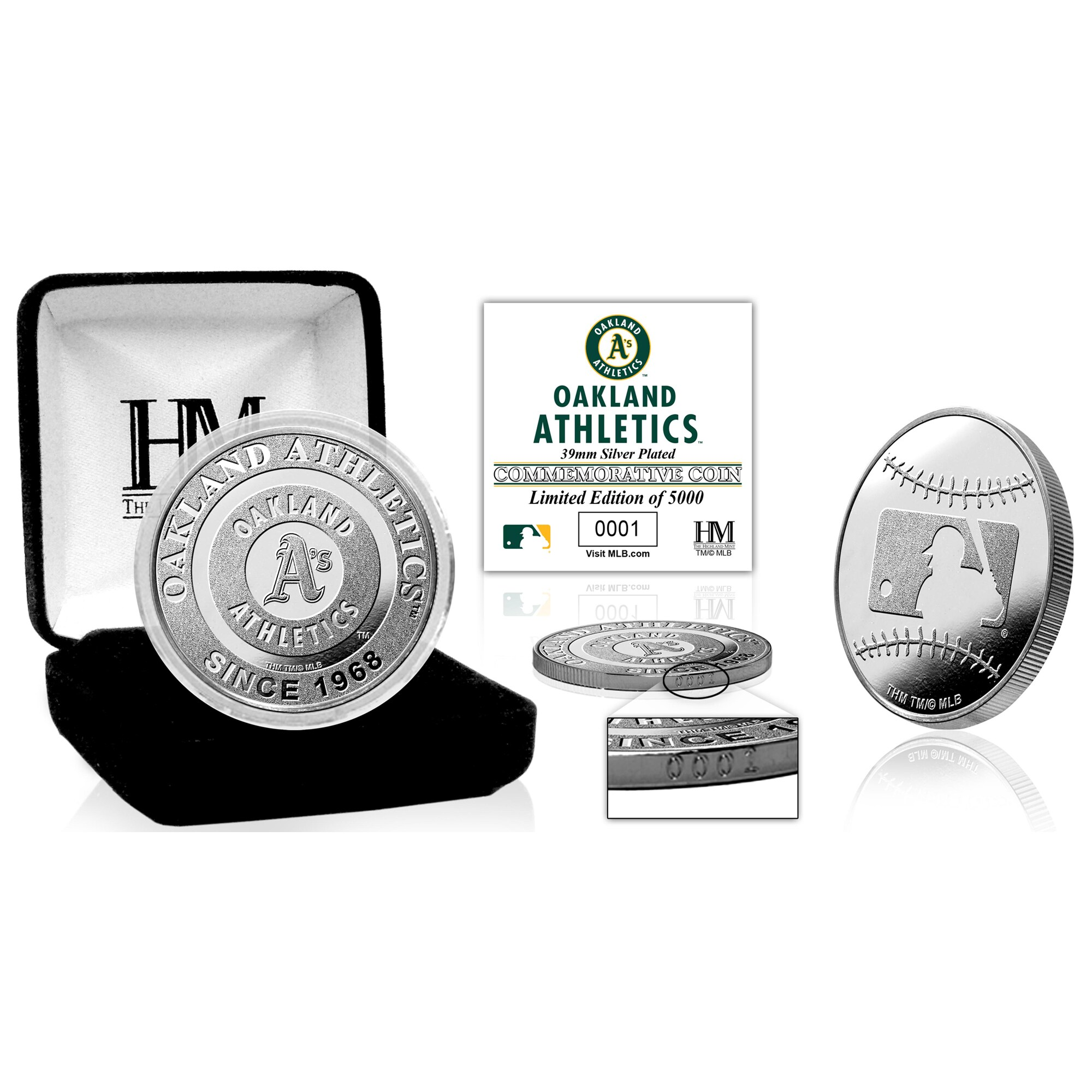 Oakland Athletics Highland Mint Silver Mint Coin