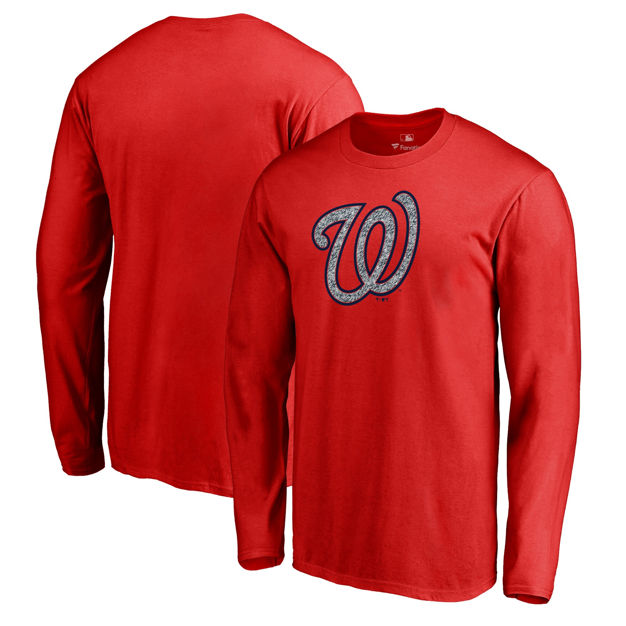 Washington Nationals Fanatics Branded Static Logo Long Sleeve T-Shirt - Red