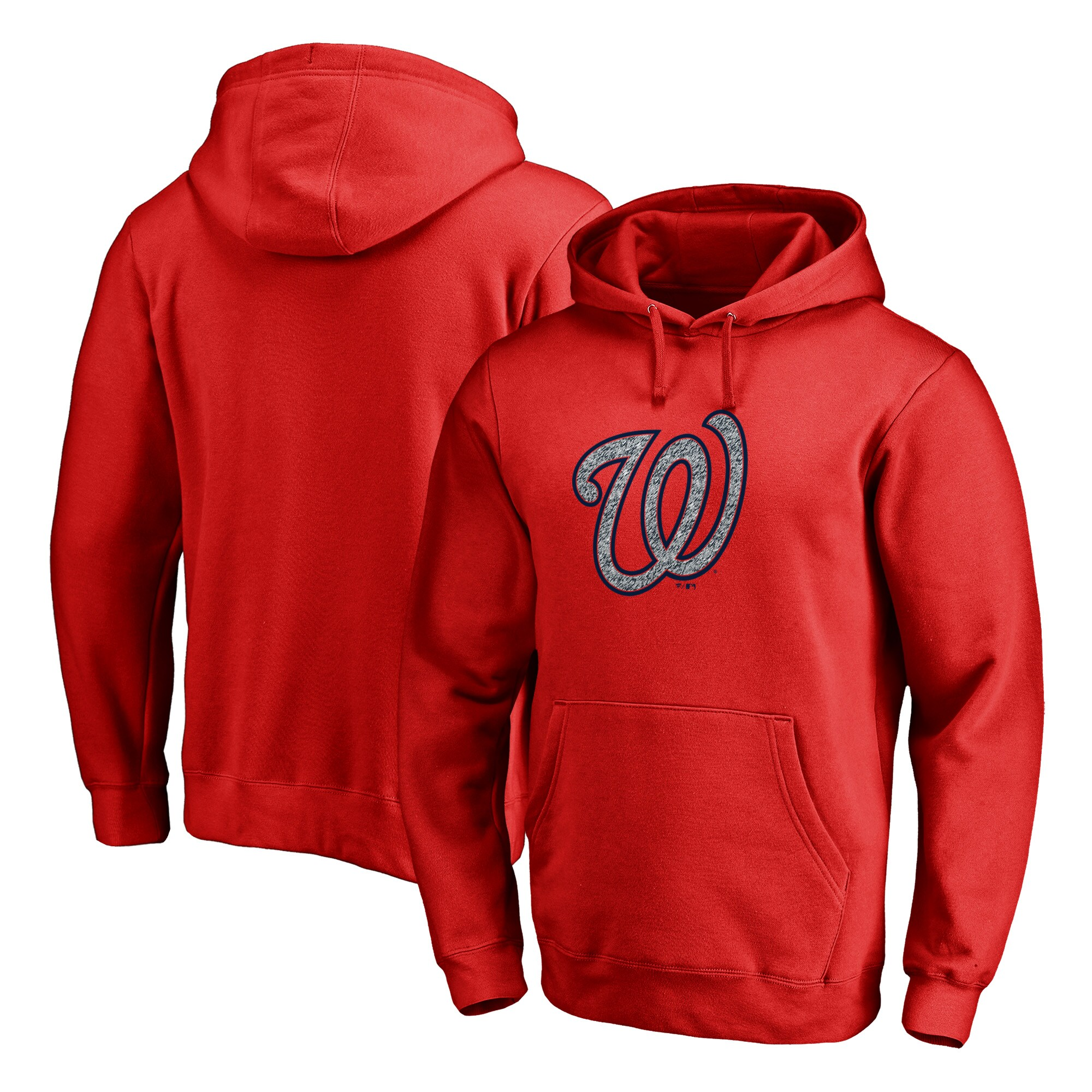 Washington Nationals Fanatics Branded Static Logo Pullover Hoodie - Red