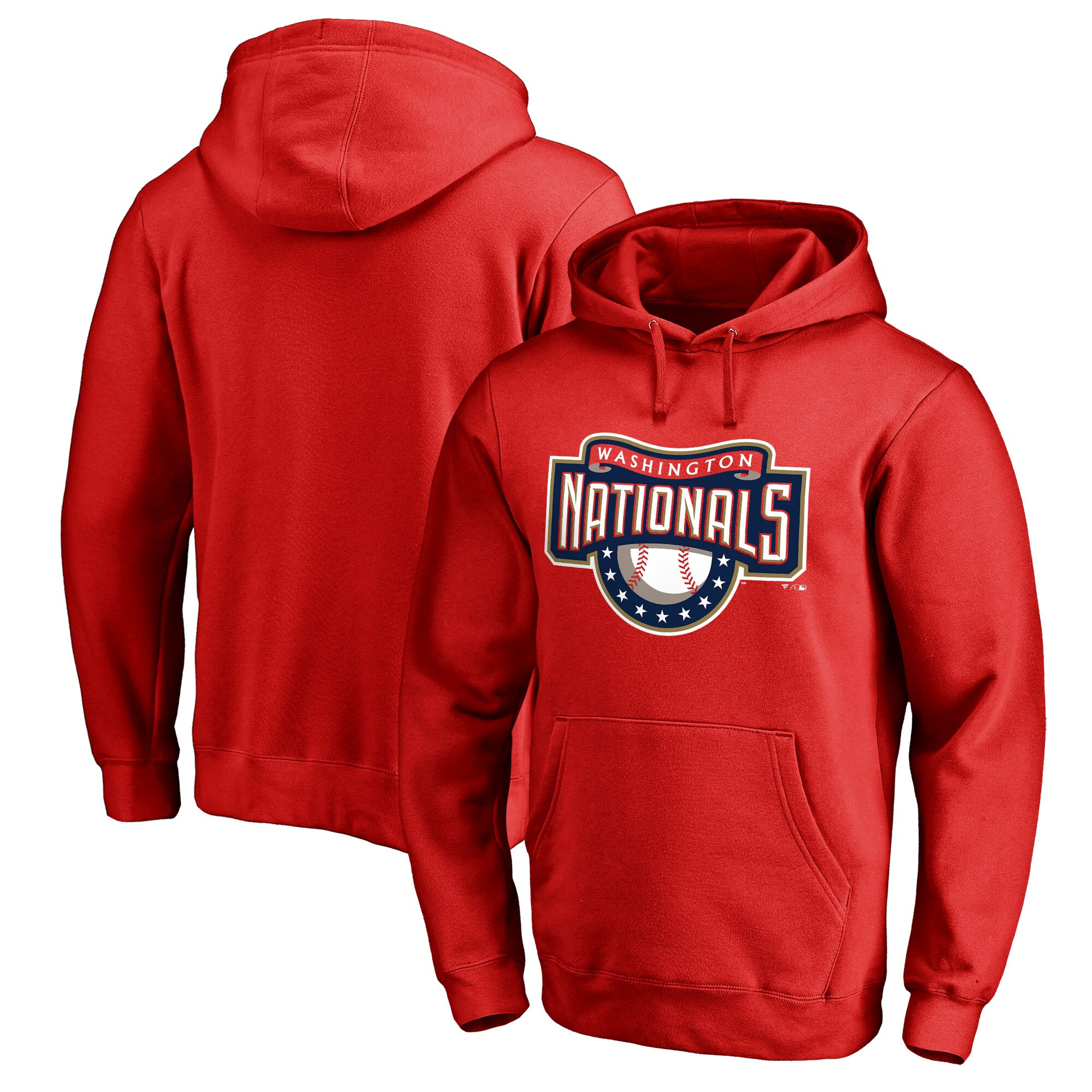 Washington Nationals Fanatics Branded Cooperstown Collection Huntington Big & Tall Pullover Hoodie - Red