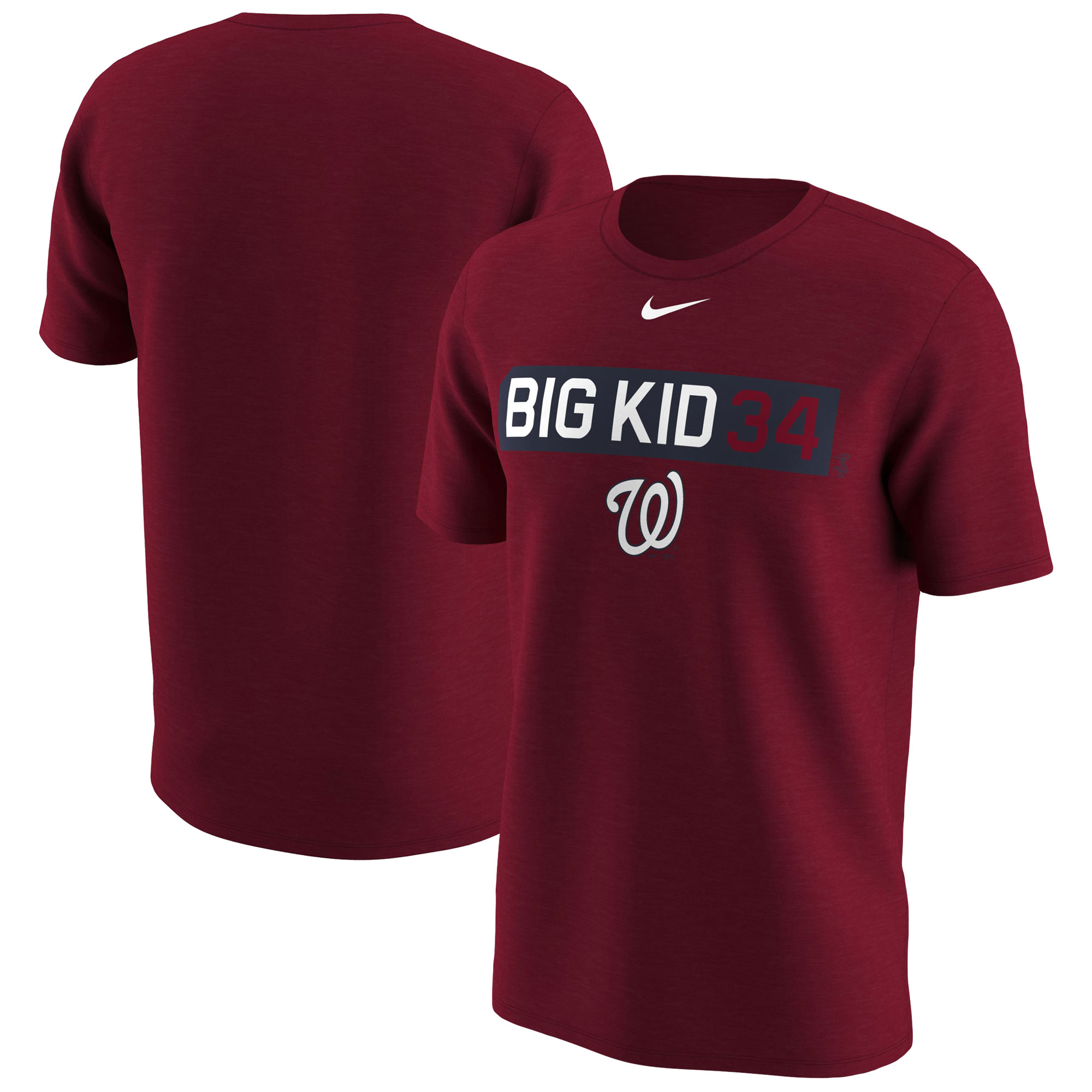Bryce Harper Washington Nationals Nike Legend Player Nickname Name & Number T-Shirt - Red
