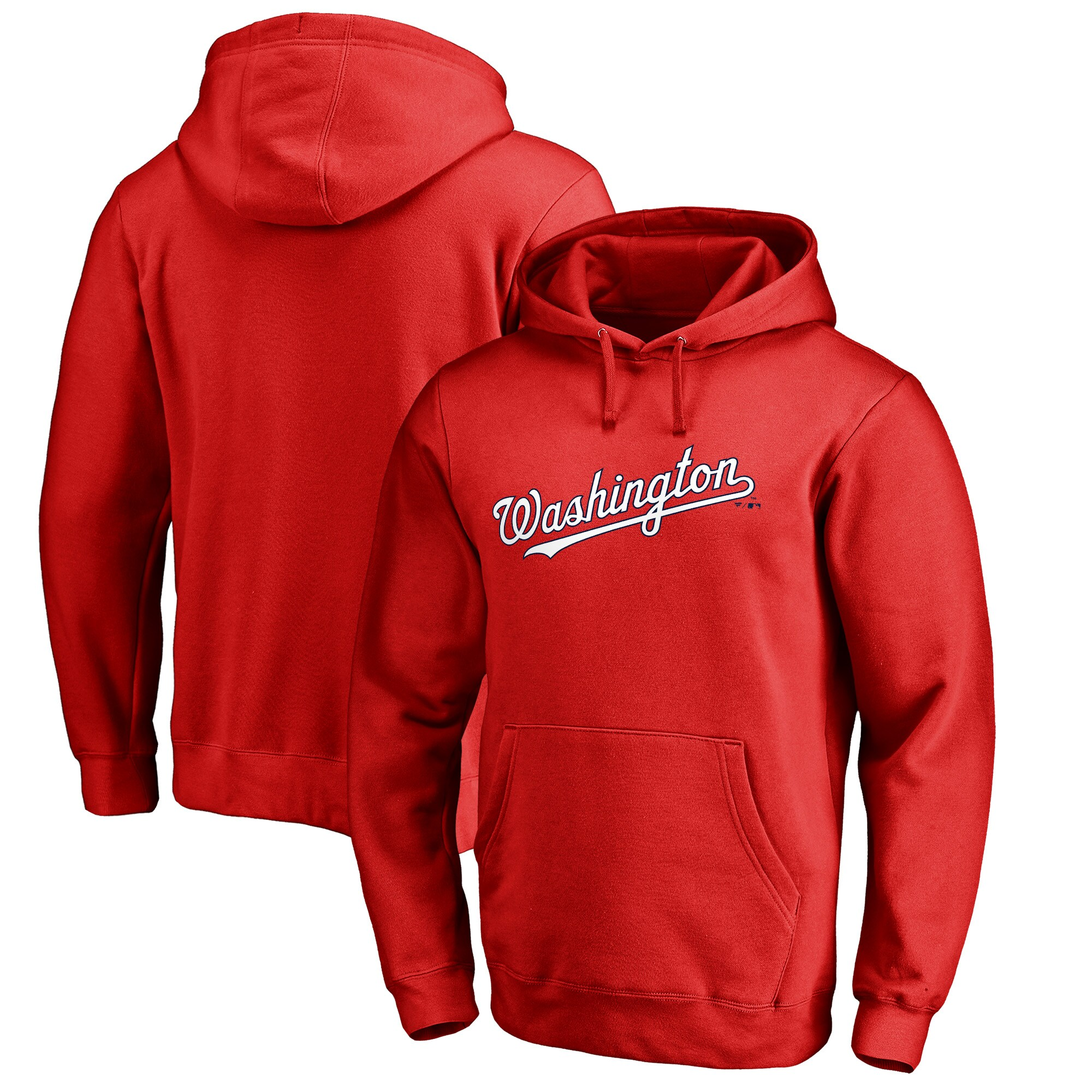 Washington Nationals Fanatics Branded Wordmark Big and Tall Pullover Hoodie - Red