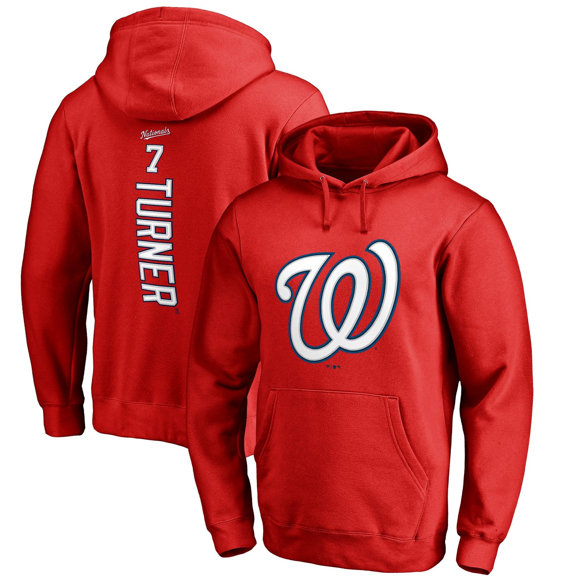 Trea Turner Washington Nationals Fanatics Branded Backer Pullover Hoodie - Red