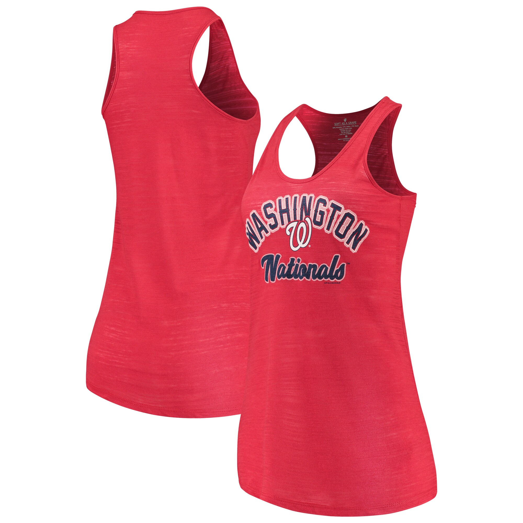 Washington Nationals Soft as a Grape Women's Multicount Racerback Tank Top - Red