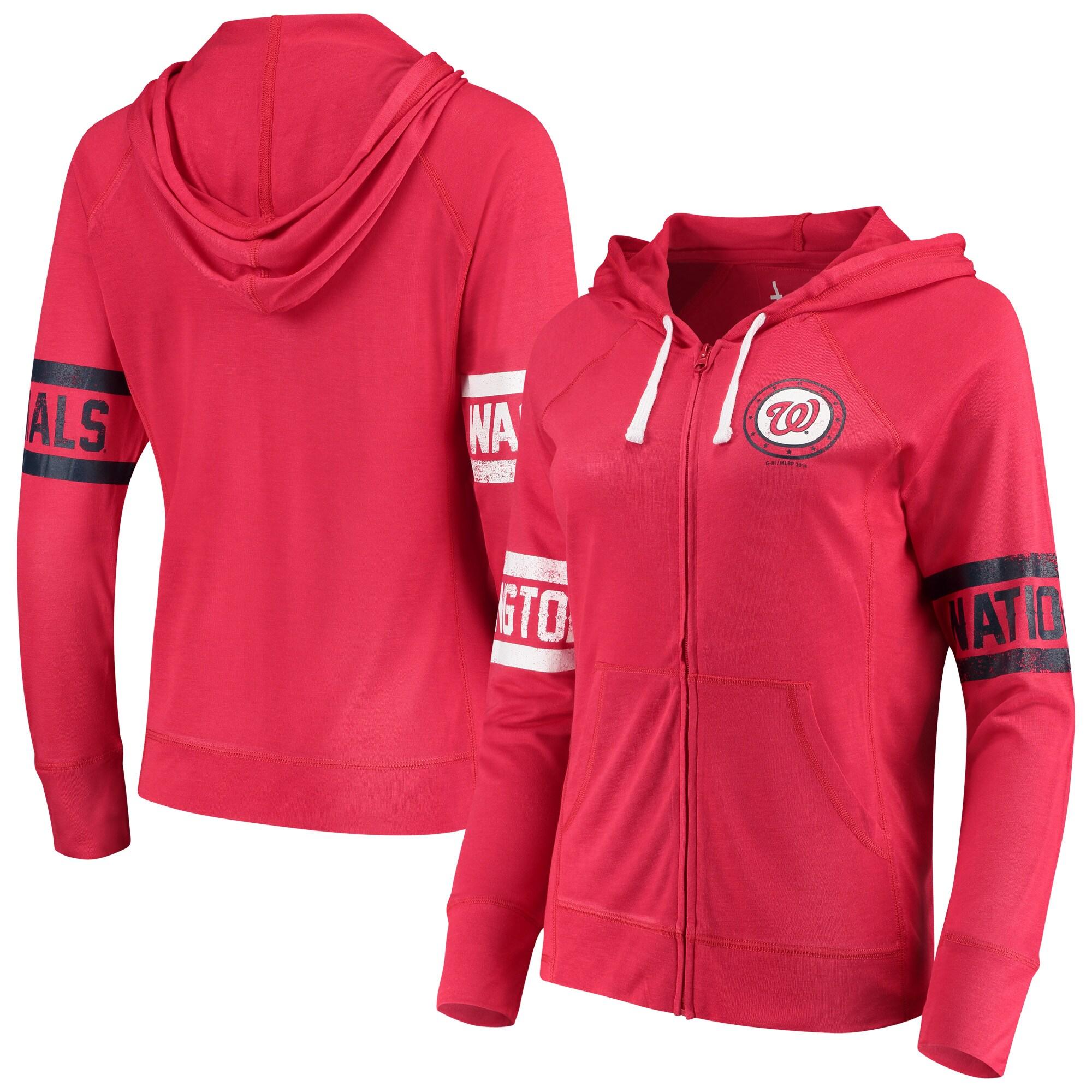 Washington Nationals Touch by Alyssa Milano Women's Postseason Hoodie - Red